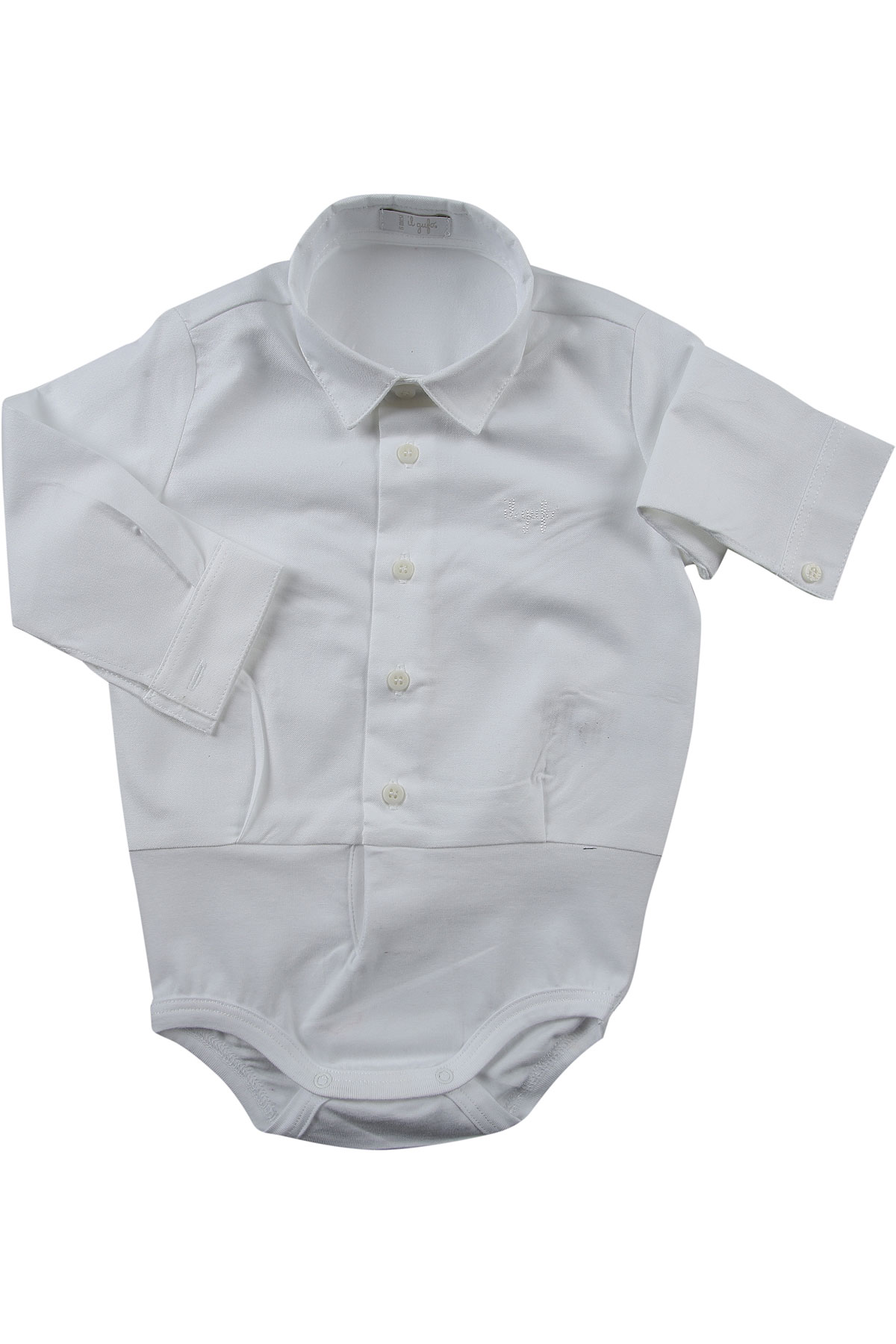 Il Gufo Baby Bodysuits & Onesies for Boys On Sale, White, Cotton, 2019, 6M 9M