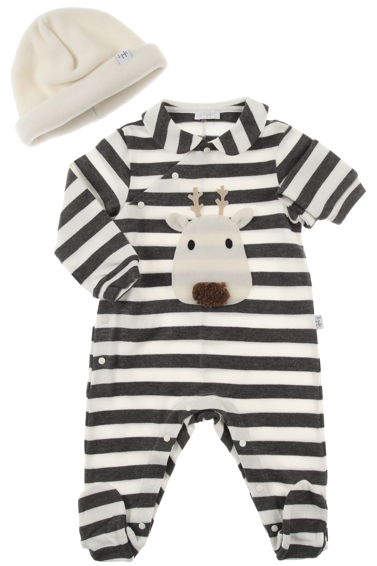 Image of Il Gufo Baby Bodysuits & Onesies for Boys, White, Viscose, 2017, 3M 6M 9M