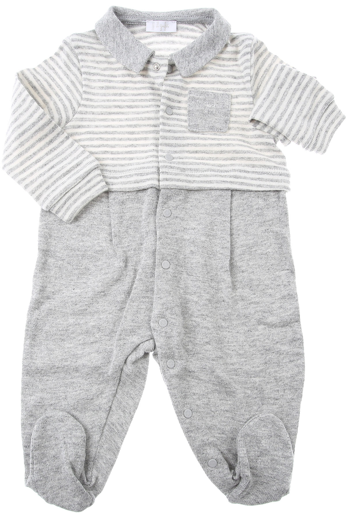 Il Gufo Baby Bodysuits & Onesies for Boys On Sale, Grey, Cotton, 2019, 1M 6M