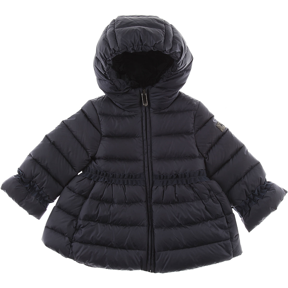 Image of Il Gufo Baby Down Jacket for Girls, Blue, polyamide, 2017, 12M 2Y 6M 9M