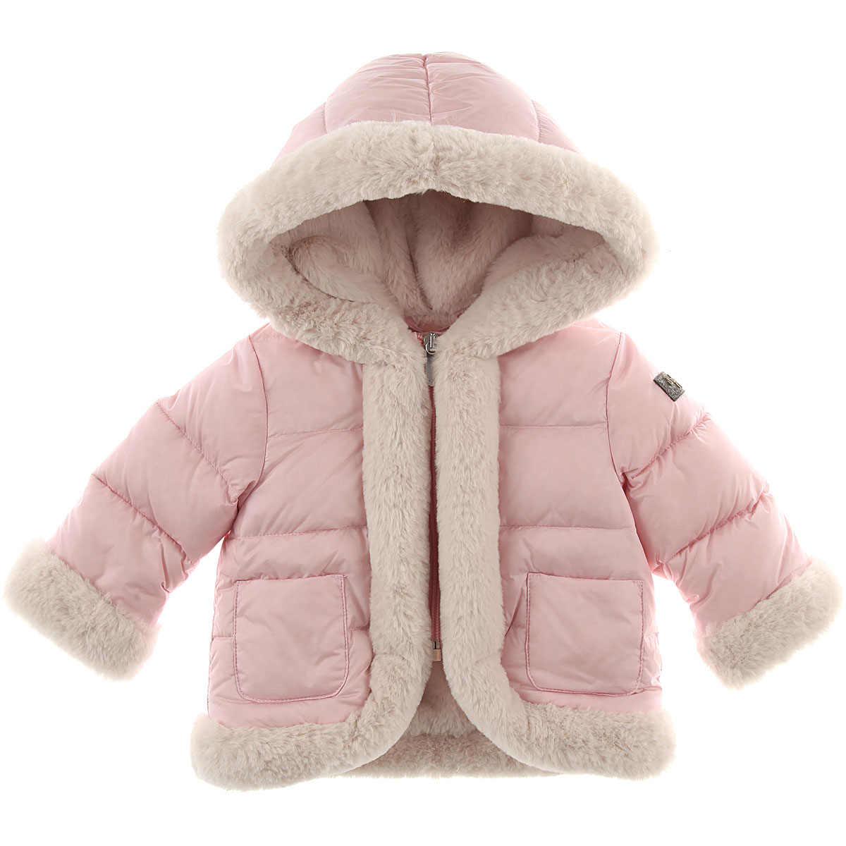 Image of Il Gufo Baby Down Jacket for Girls, Pink, polyamide, 2017, 12M 18M 2Y 6M 9M