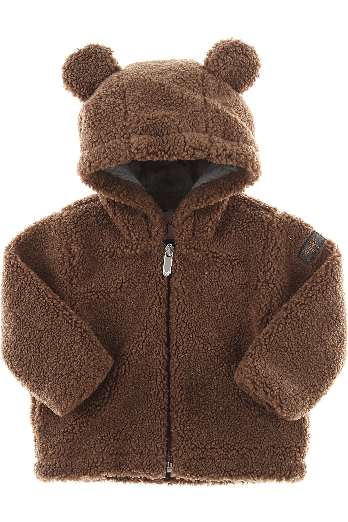 Image of Il Gufo Baby Jacket for Girls, Brown, polyester, 2017, 12M 18M