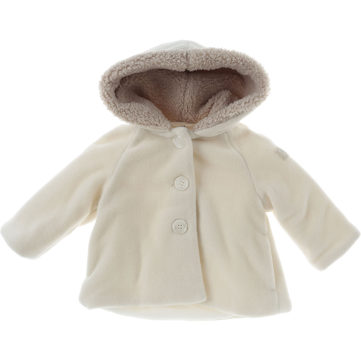 Image of Il Gufo Baby Coats for Girls On Sale in Outlet, Beige, polyester, 2017, 12M 3M 6M 9M