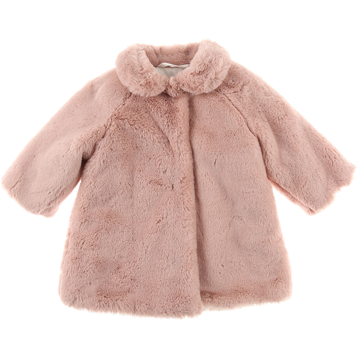 Image of Il Gufo Baby Coats for Girls, Powder Pink, polyester, 2017, 12M 9M