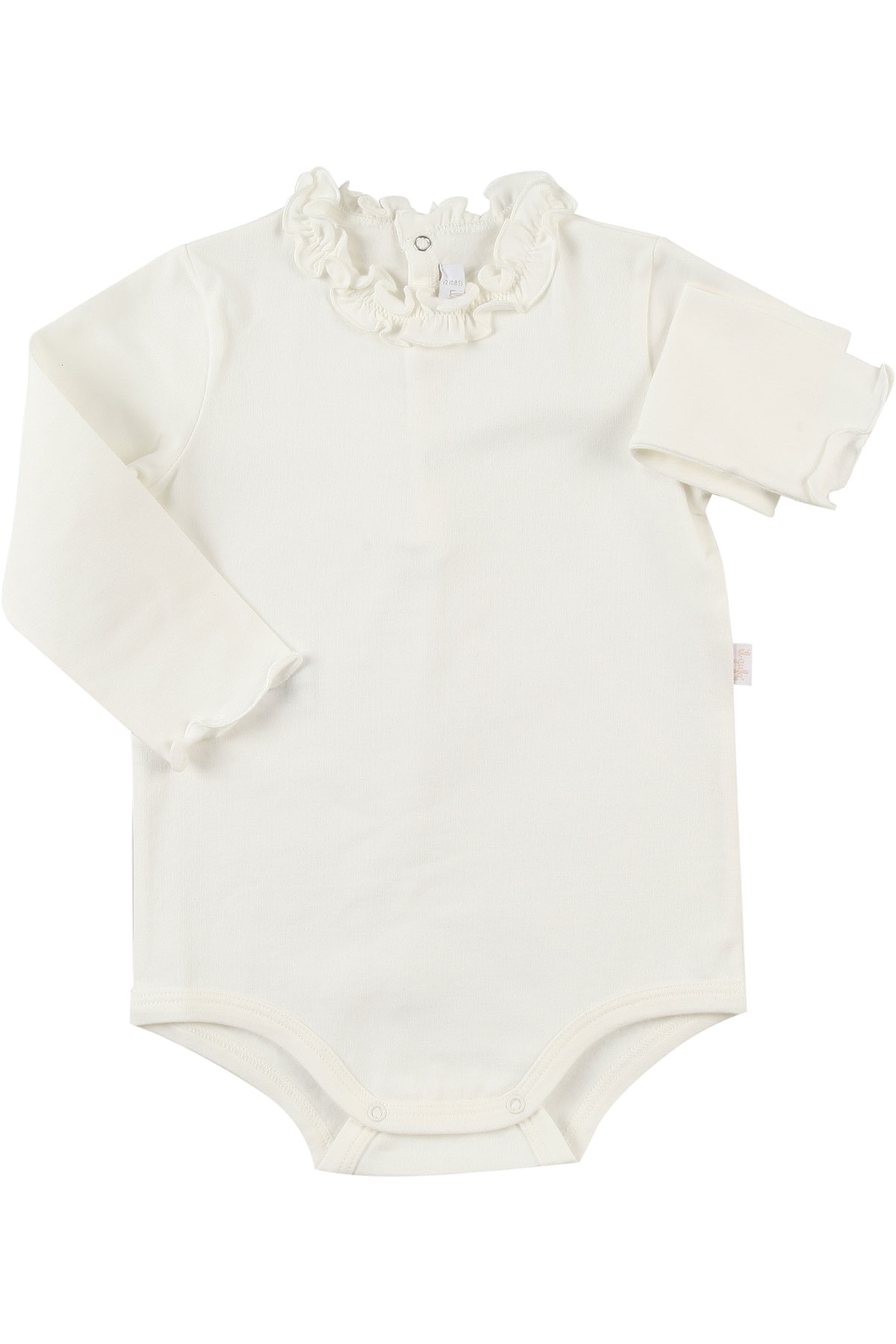 Image of Il Gufo Baby Bodysuits & Onesies for Girls, White, Cotton, 2017, 12M 18M 6M 9M
