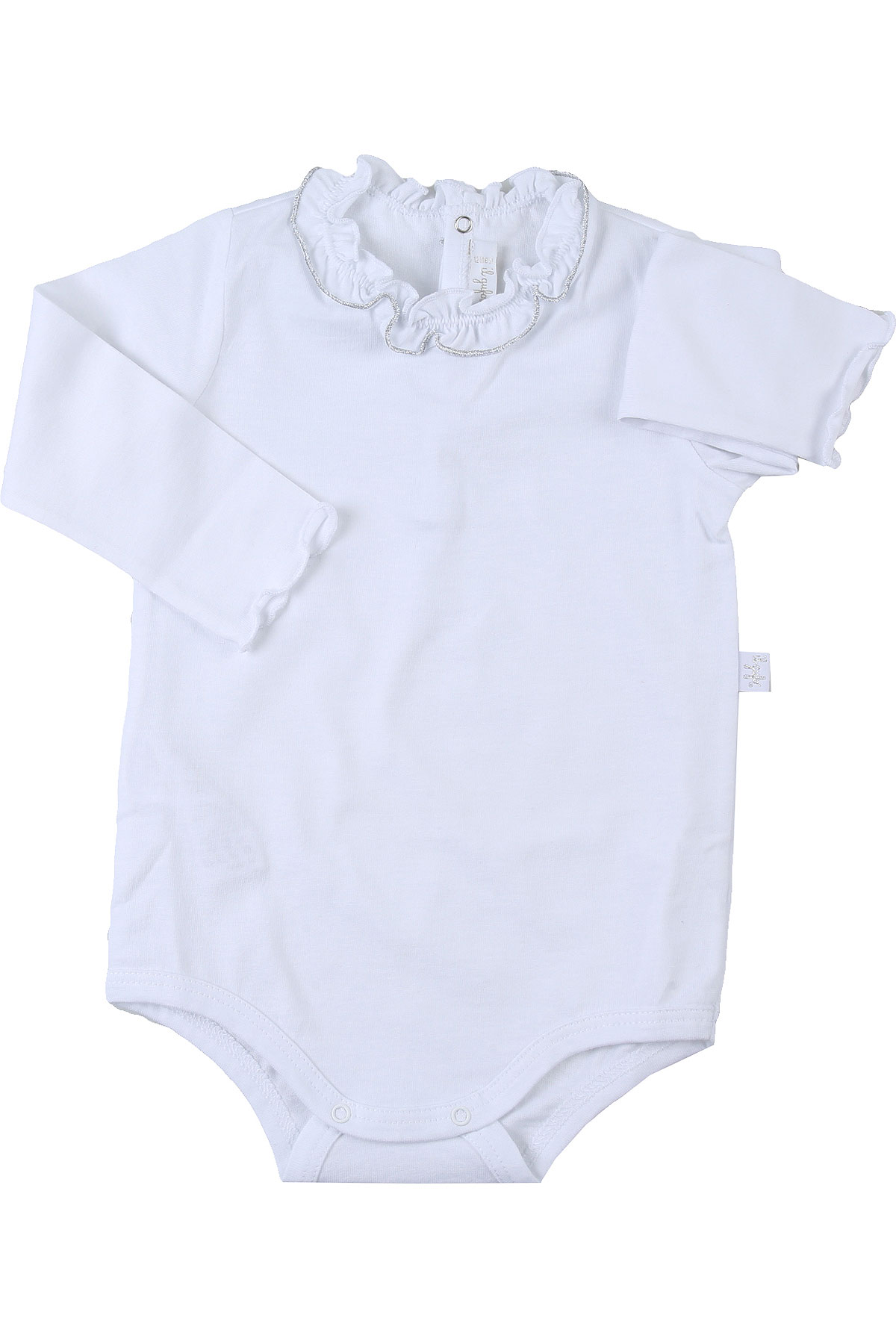 Il Gufo Baby Bodysuits & Onesies for Girls On Sale, White, Cotton, 2019, 12M 18M