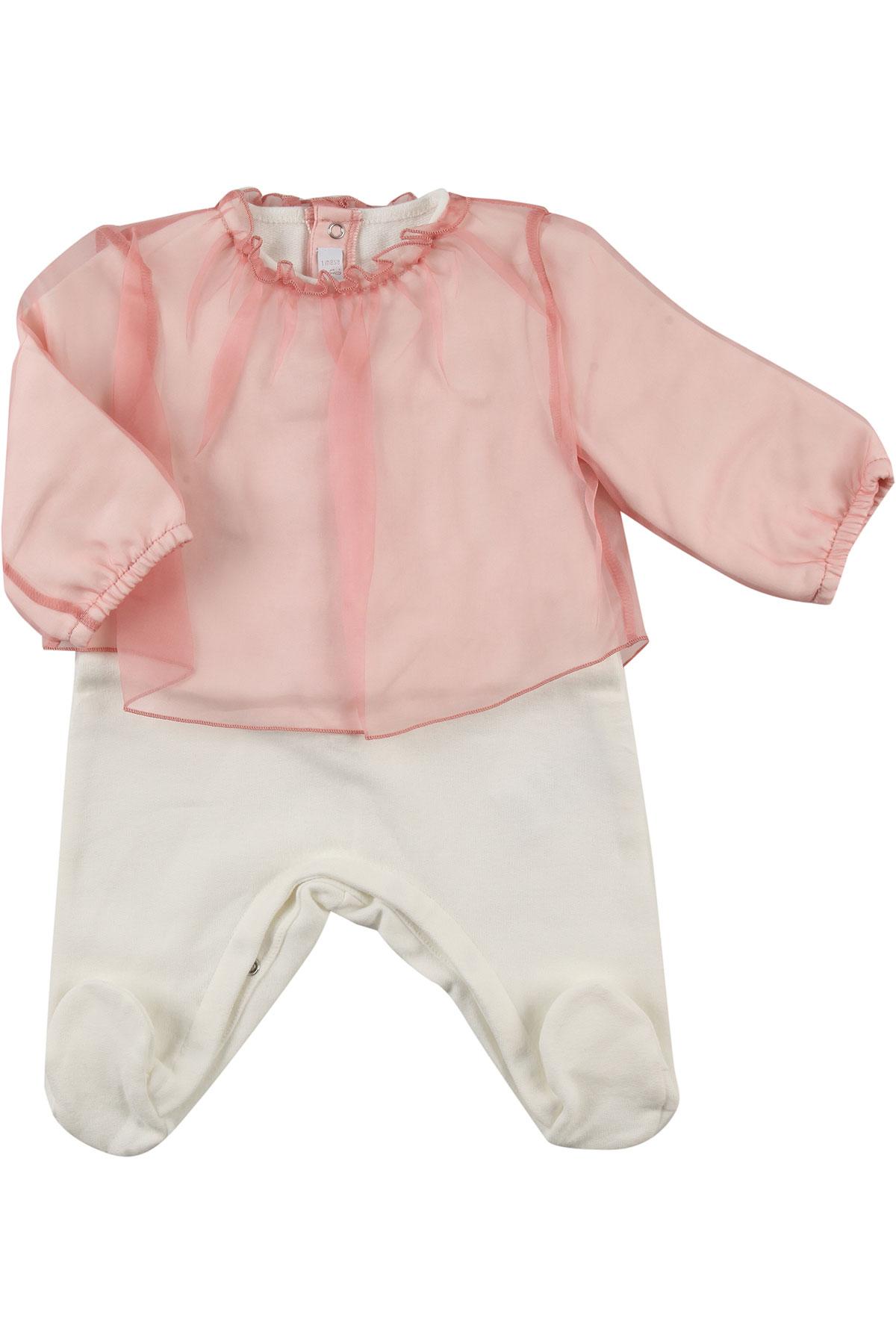 Image of Il Gufo Baby Bodysuits & Onesies for Girls, White, Silk, 2017, 1M 3M 6M