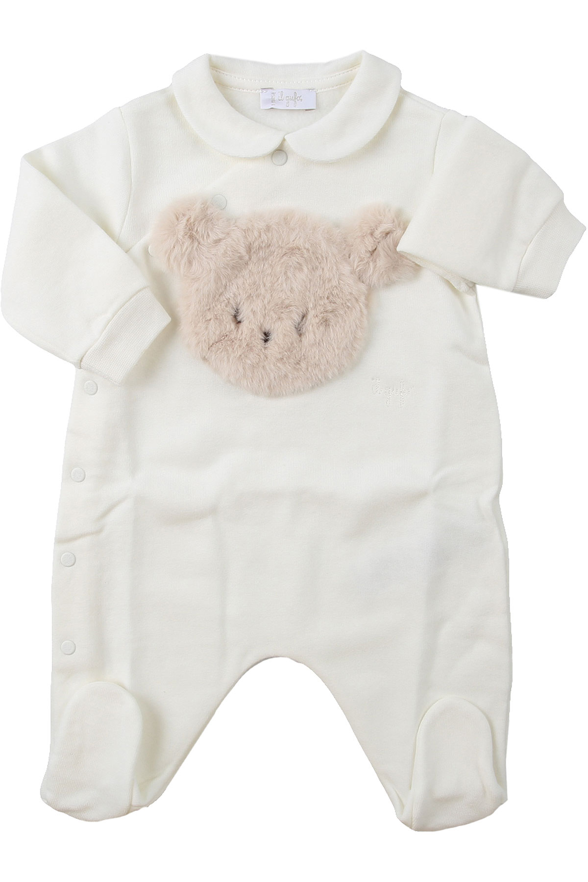 Il Gufo Baby Bodysuits & Onesies for Girls On Sale, Milk, Cotton, 2019, 1M 3M