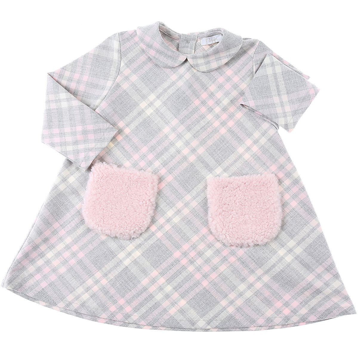 Il Gufo Baby Dress for Girls On Sale, Grey, polyester, 2019, 12M 18M 2Y 3Y 9M