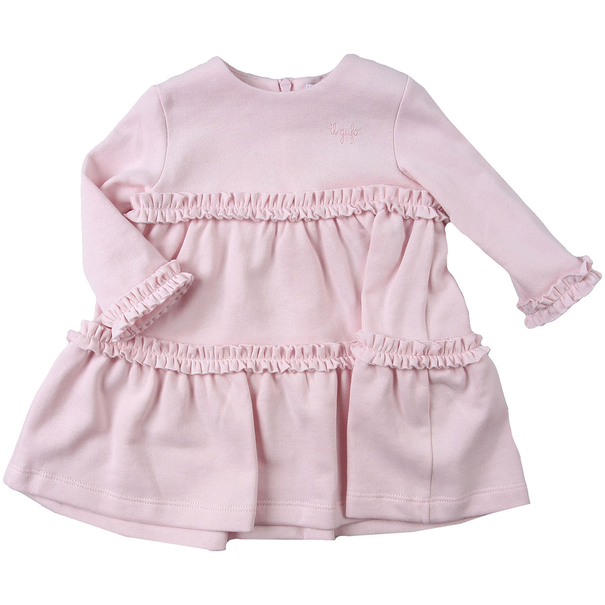 Il Gufo Baby Dress for Girls On Sale, Pearl pink, Cotton, 2019, 12M 6M 9M