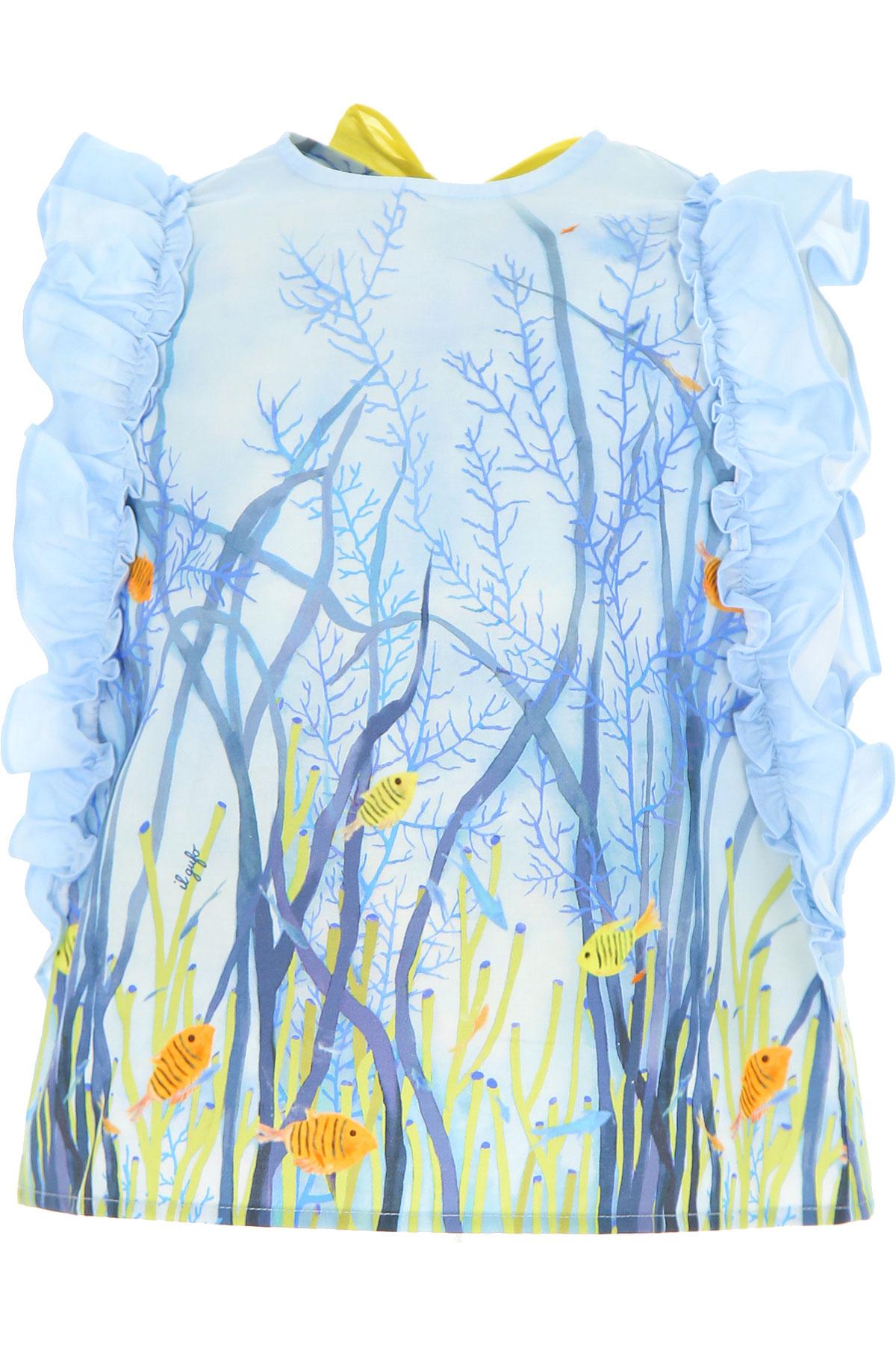 Il Gufo Chemises Enfant pour Fille, Bleu Ciel, Coton, 2017, 10Y 2Y 3Y 4Y 5Y 6Y 8Y