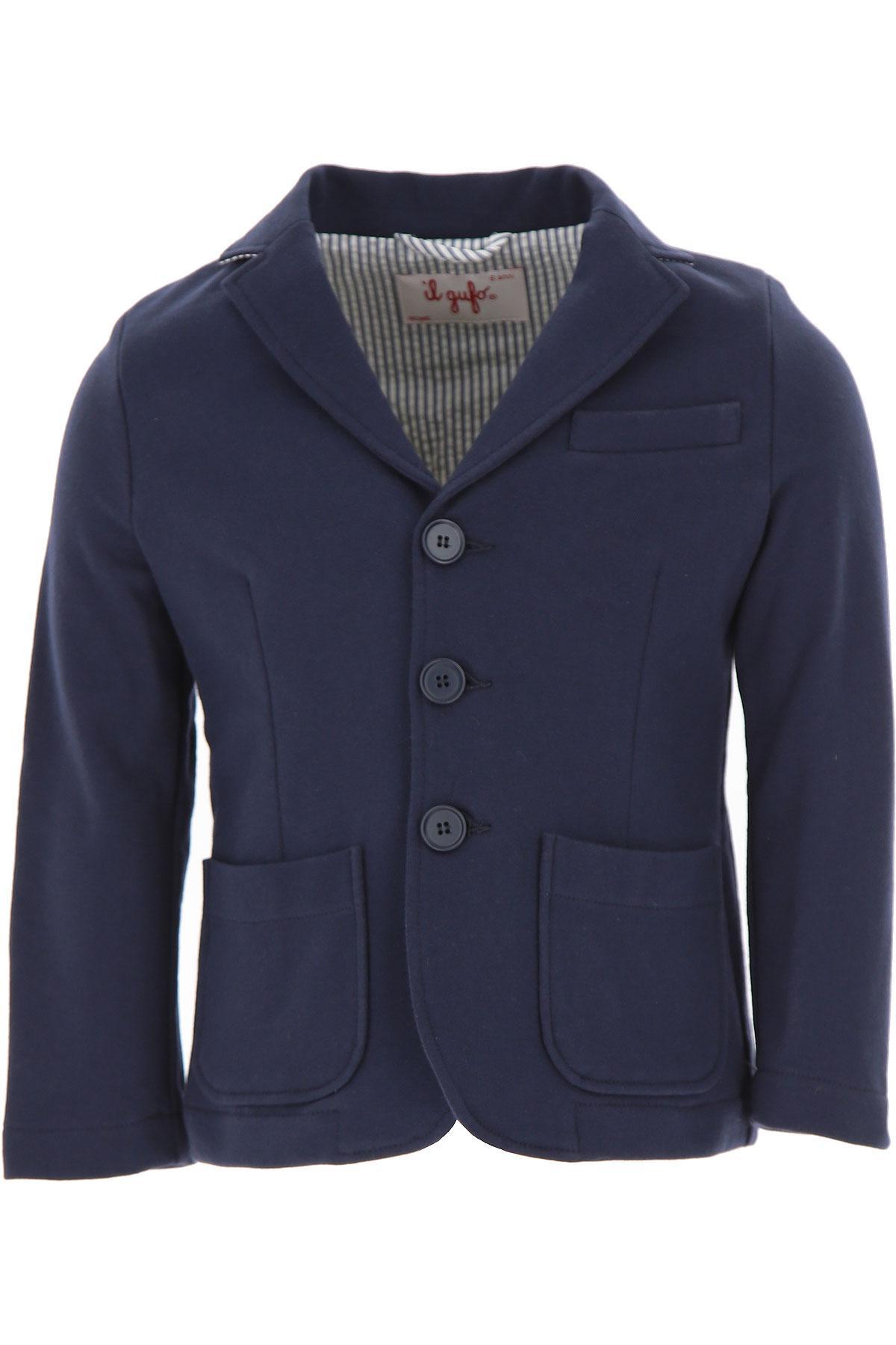 Image of Il Gufo Kids Blazer for Boys On Sale, Blue, Cotton, 2017, 10Y 6Y 8Y