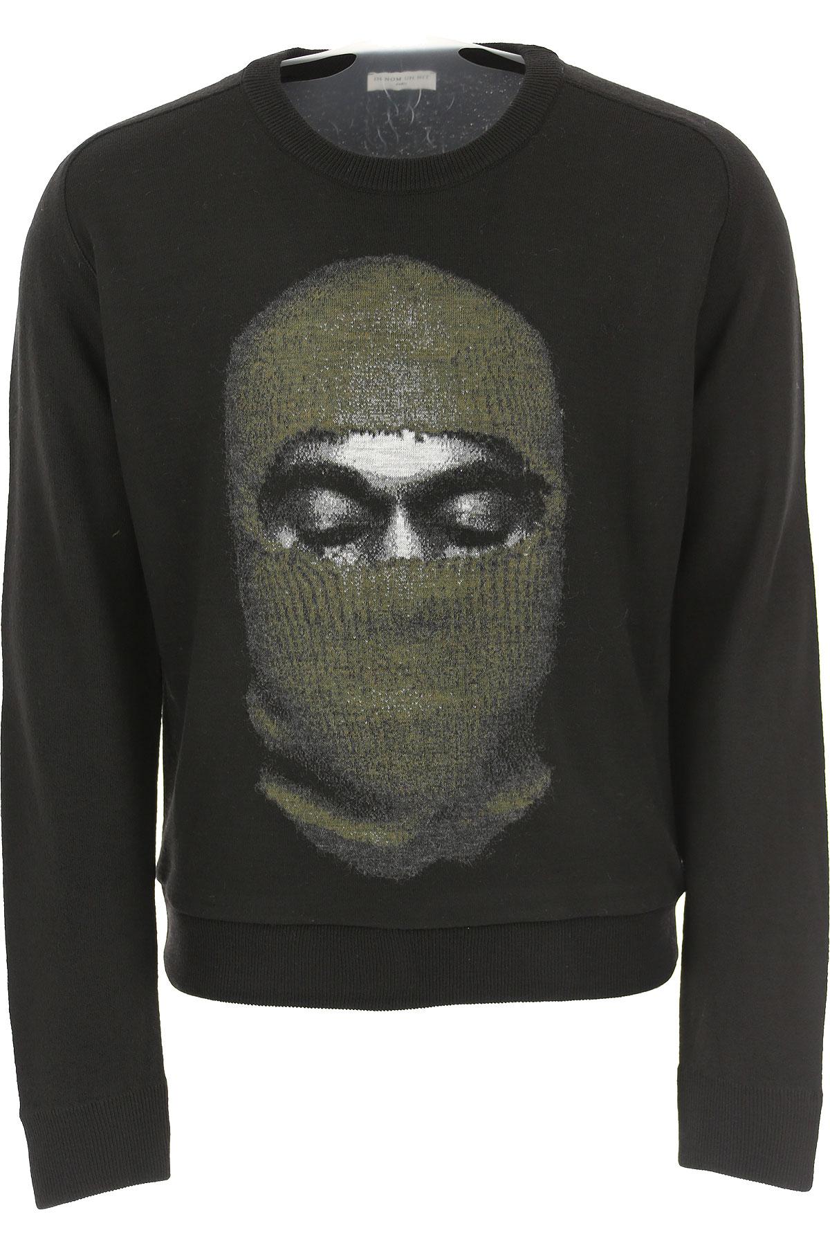 Ih Nom Uh Nit Sweater for Men Jumper On Sale, Black, Acrylic, 2019, L M