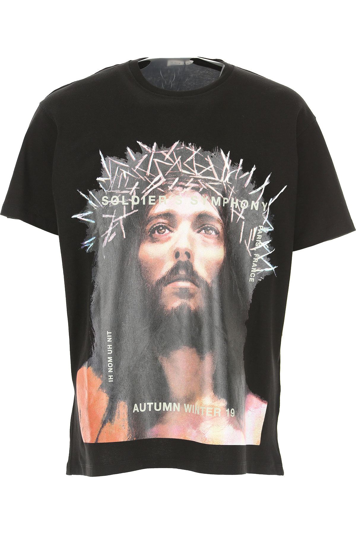 Ih Nom Uh Nit T-Shirt for Men On Sale, Black, Cotton, 2019, L M S