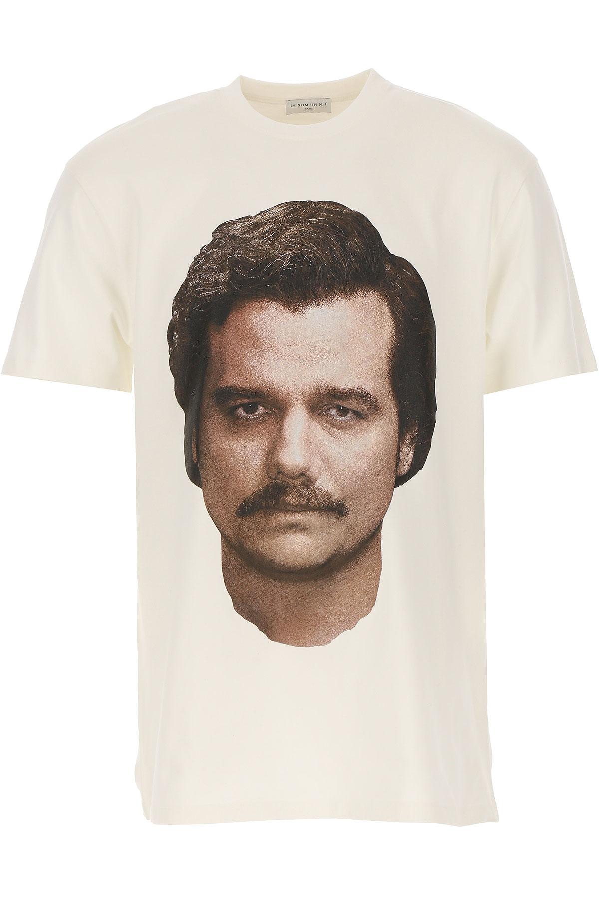 Ih Nom Uh Nit T-Shirt for Men On Sale, White, Cotton, 2019, L M S