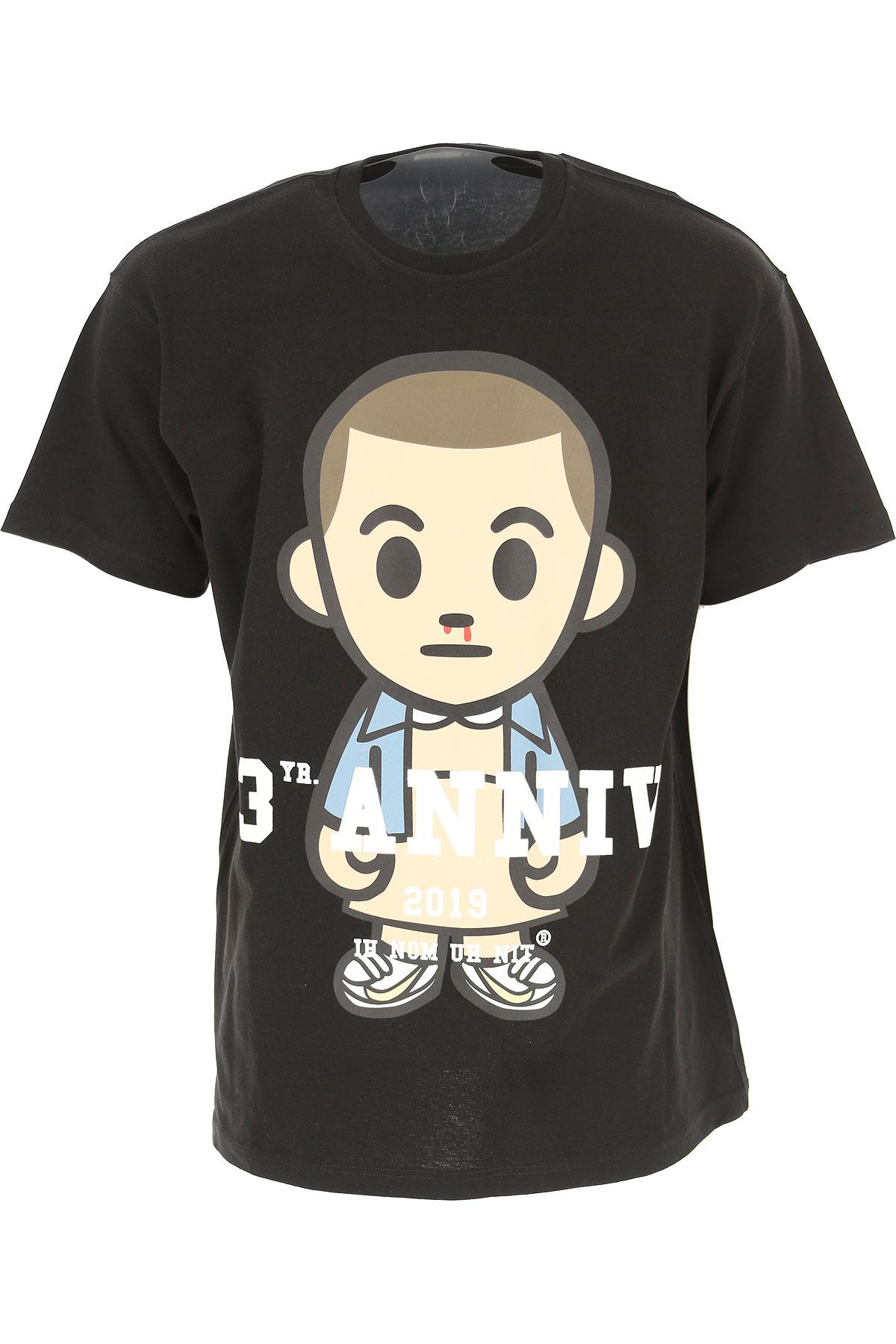 Ih Nom Uh Nit T-Shirt for Men On Sale, Black, Cotton, 2019, L M