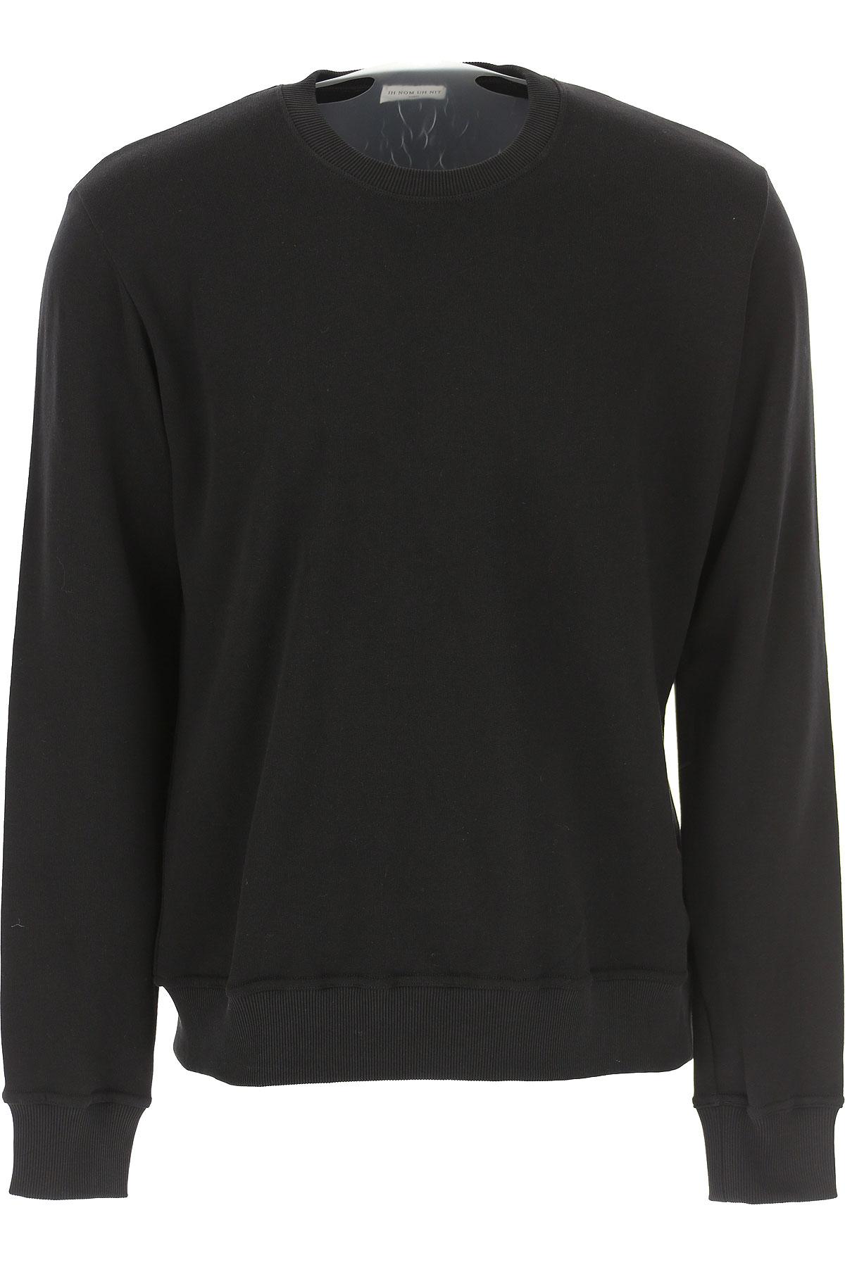 Ih Nom Uh Nit Sweatshirt for Men On Sale, Black, Cotton, 2019, L S XL