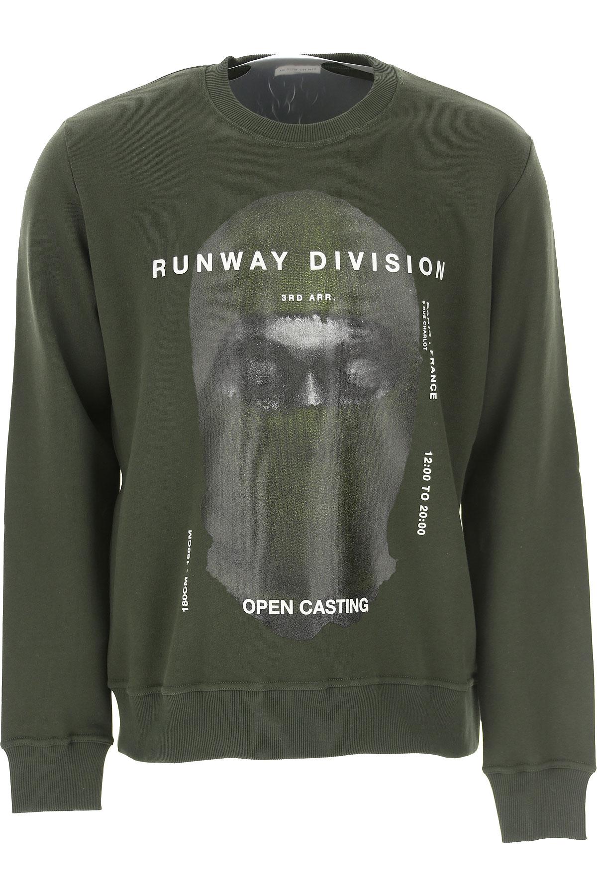 Ih Nom Uh Nit Sweatshirt for Men On Sale, Military Green, Cotton, 2019, L M S XL