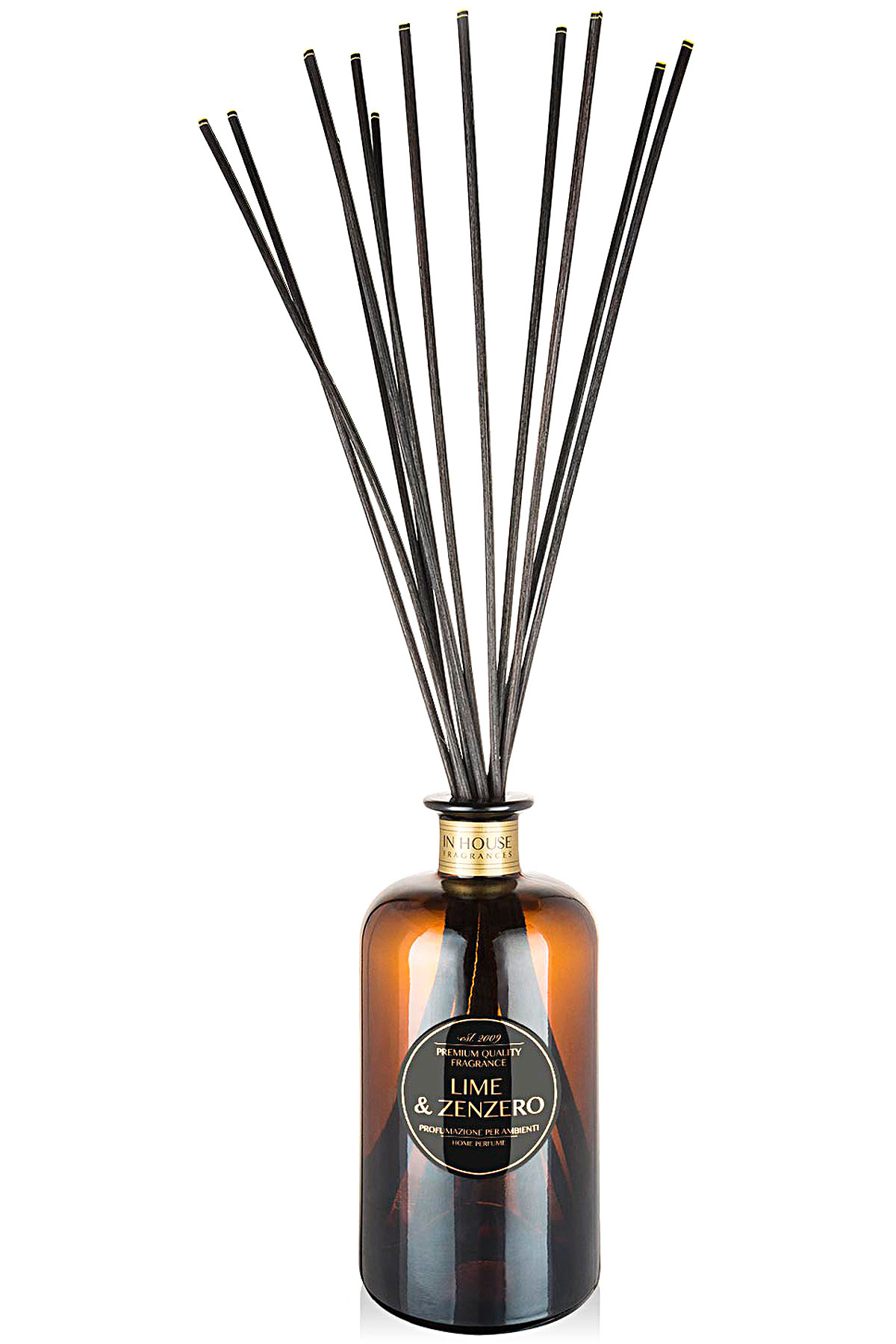 In House Fragrances Home Scents for Men, Lime & Zenzero - Home Diffuser - 500 Ml, 2019, 500 ml