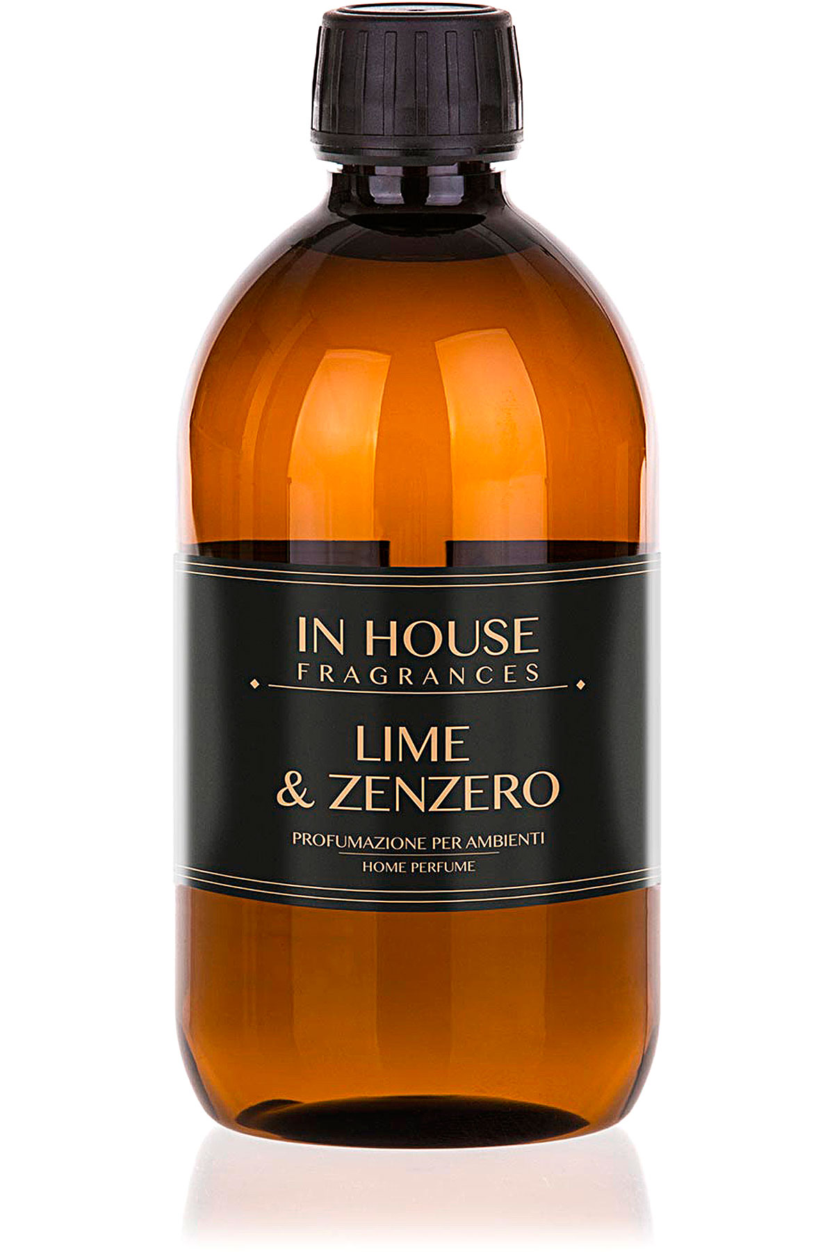 In House Fragrances Home Scents for Men, Lime & Zenzero - Refill - 500 Ml, 2019, 500 ml
