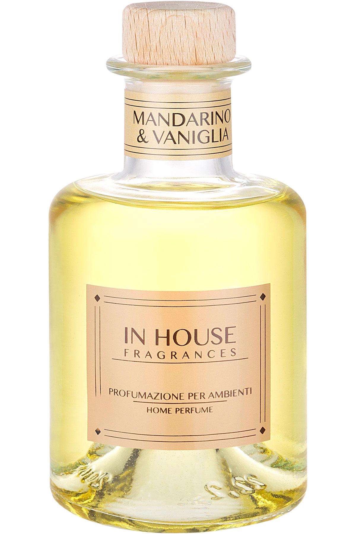 In House Fragrances Home Scents for Men, Mandarino & Vaniglia - Home Diffuser - 200 Ml, 2019, 200 ml