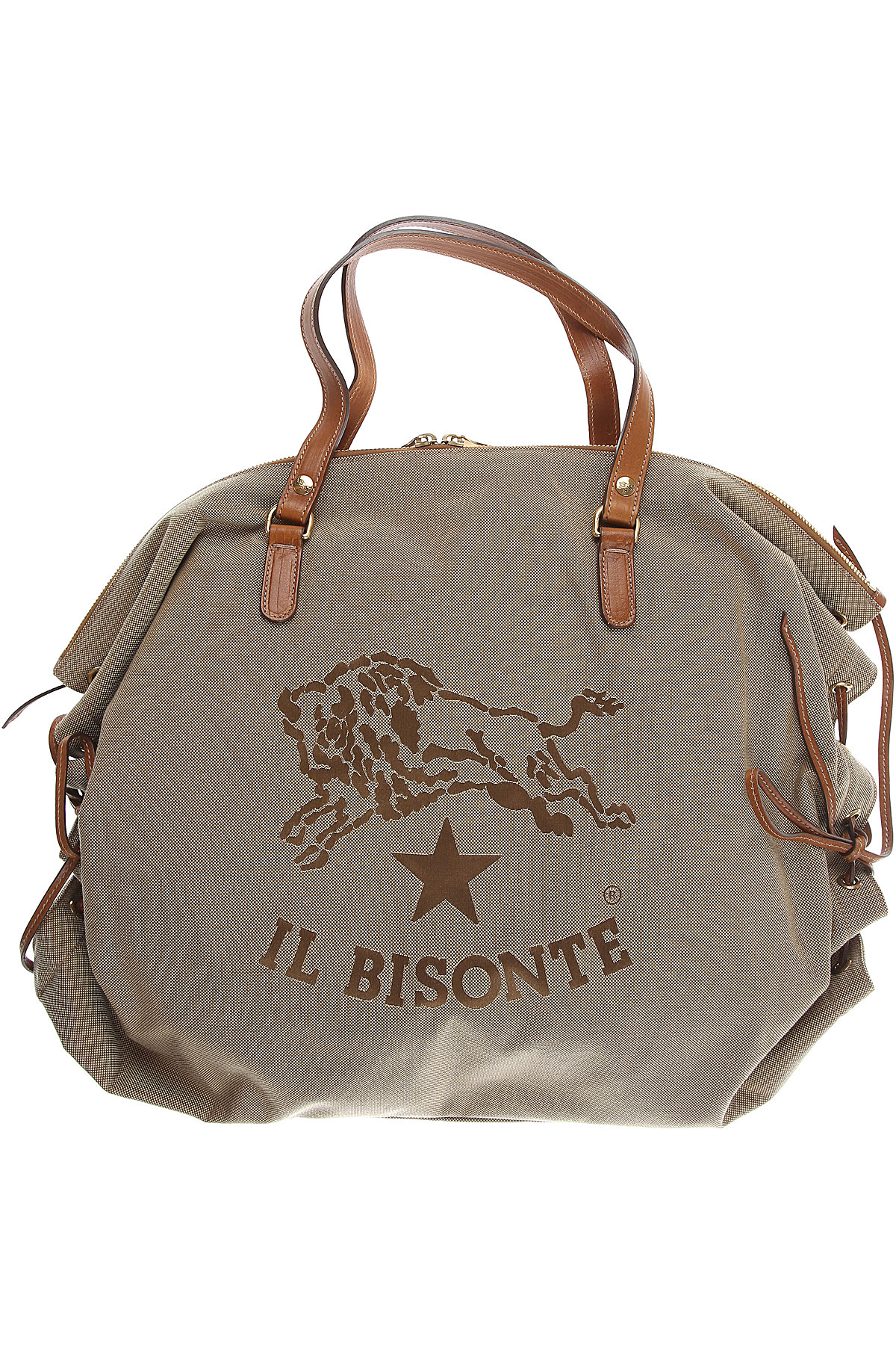Il Bisonte Tote Bag On Sale, Olive, Fabric, 2019