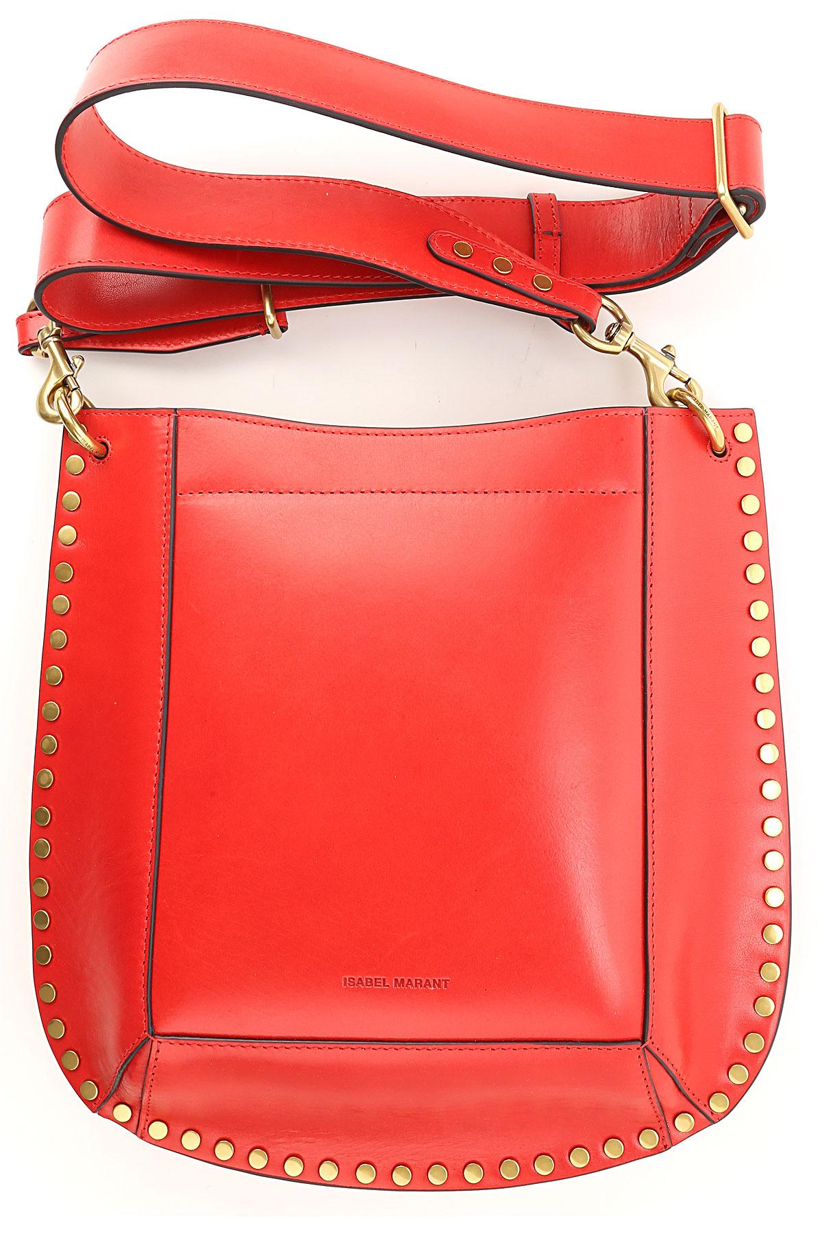Isabel Marant Shoulder Bag for Women On Sale, Red, Leather, 2019
