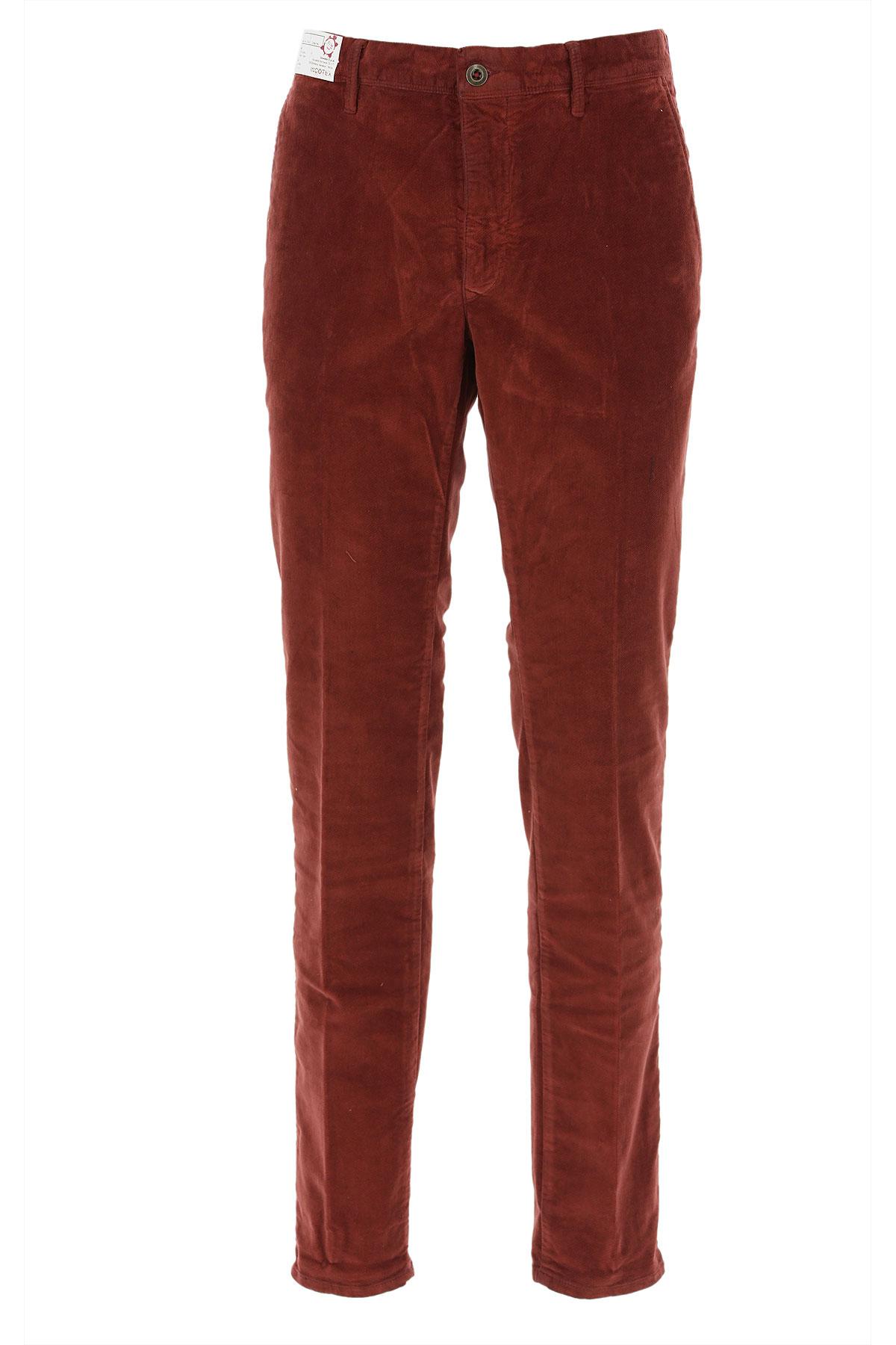 Incotex Pants for Men On Sale, Bordeaux Red, Cotton, 2019, 32 33 34 35 36