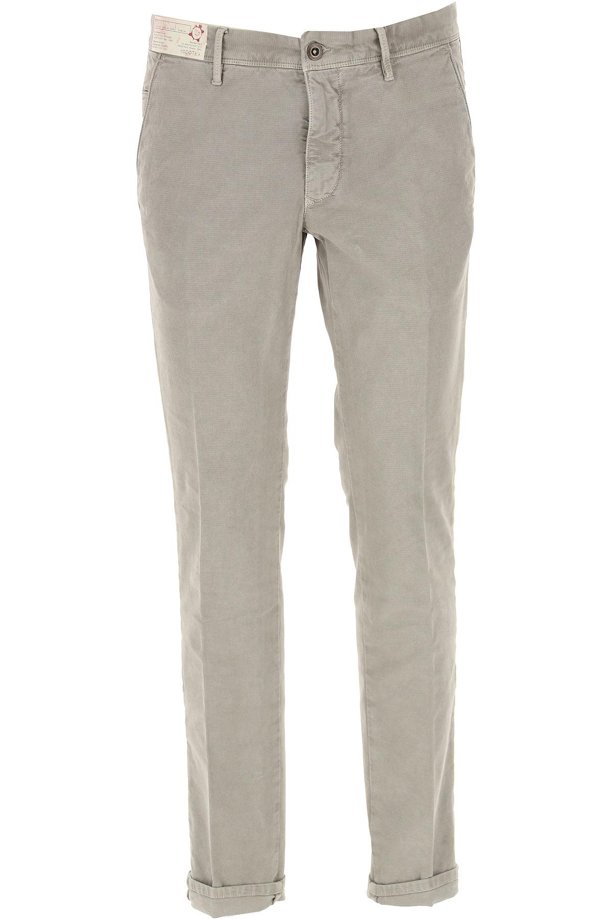 Incotex Pants for Men On Sale, Grey, Cotton, 2019, 33 34 35 36