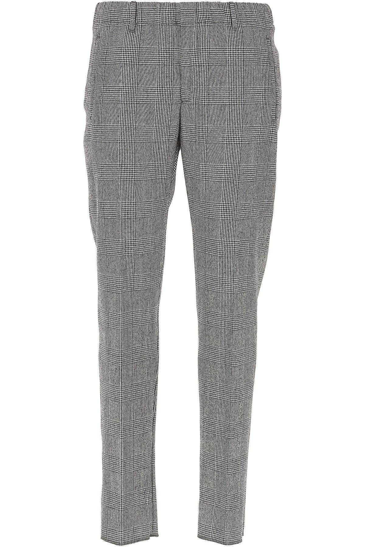 Image of Incotex Pants for Men, Black, Wool, 2017, 32 34