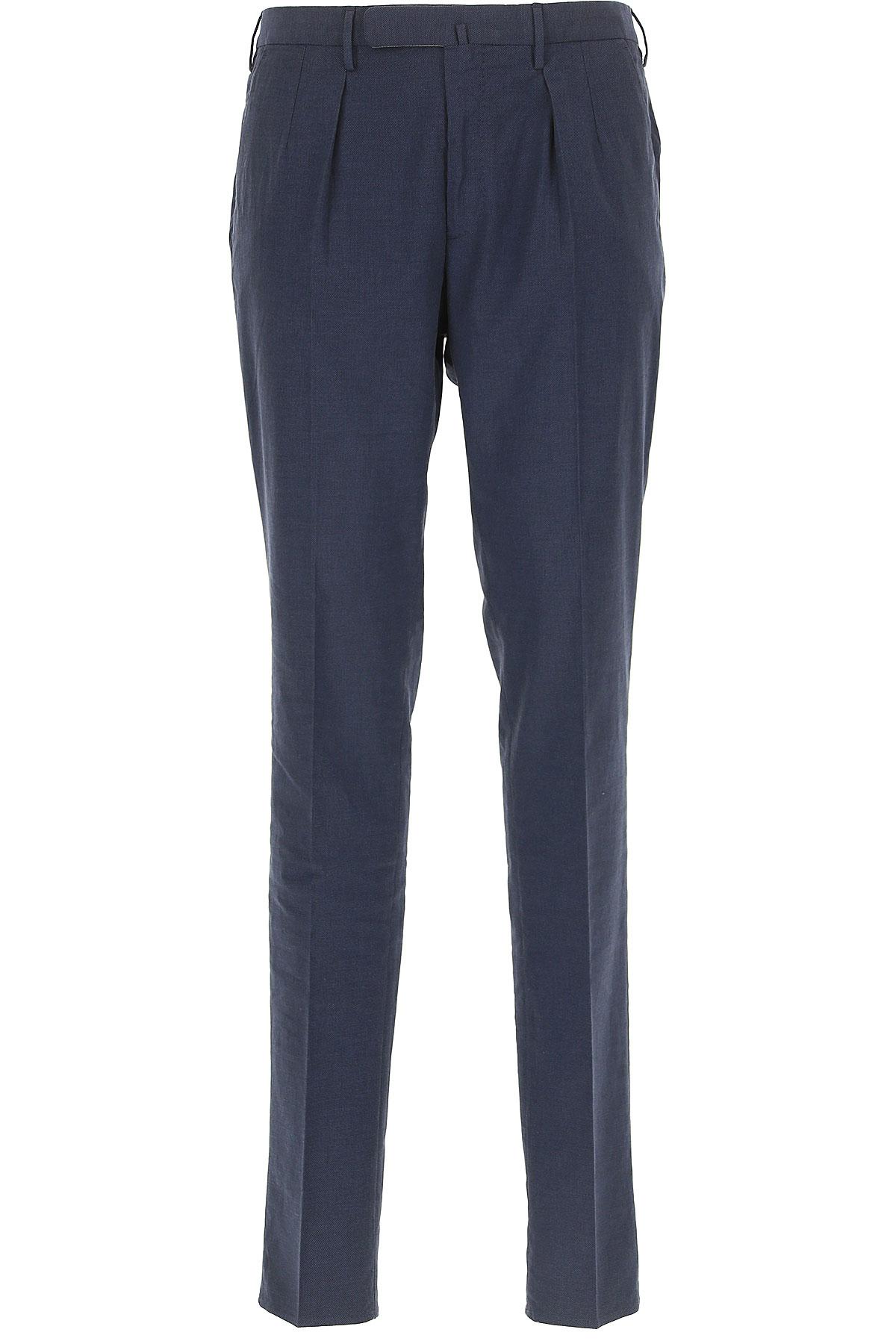 Incotex Pantalon Homme Pas cher en Soldes, Bleu foncé, Coton, 2019, 50 52