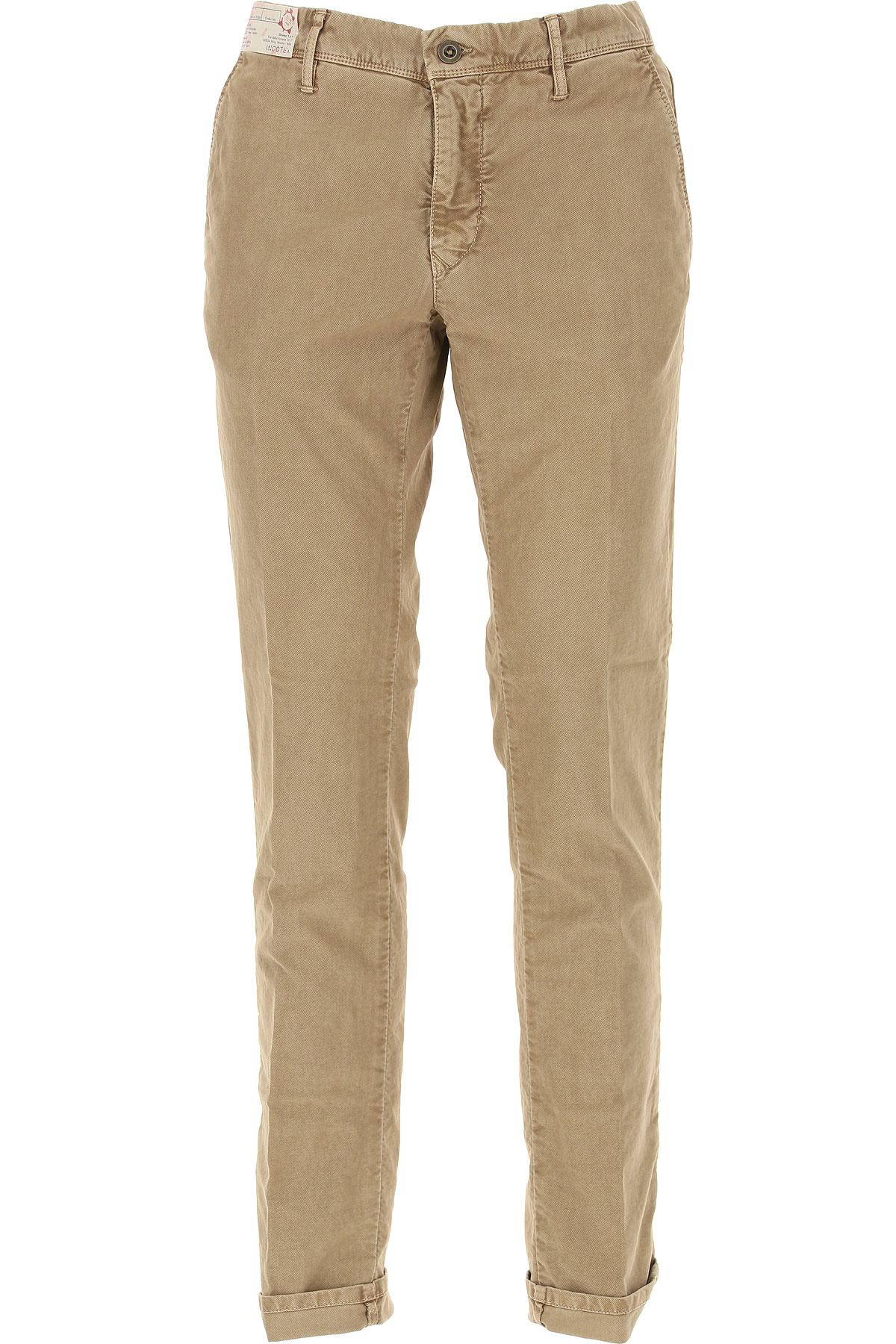 Image of Incotex Pants for Men, Beige, Cotton, 2017, 31 35 36