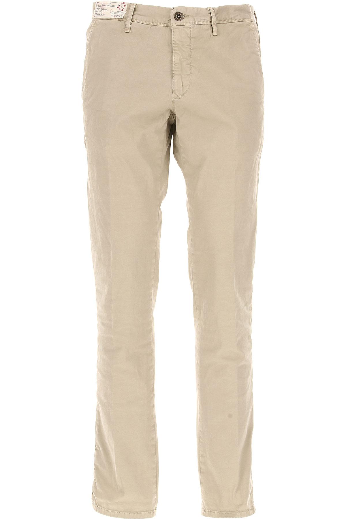 Image of Incotex Pants for Men, Beige, Cotton, 2017, 34 36