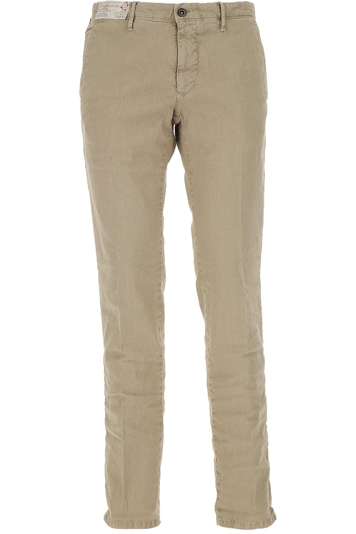 インコテックス パンツ 男性用 メンズ セール, ベージュ, コットン, 2017, 84 86.5