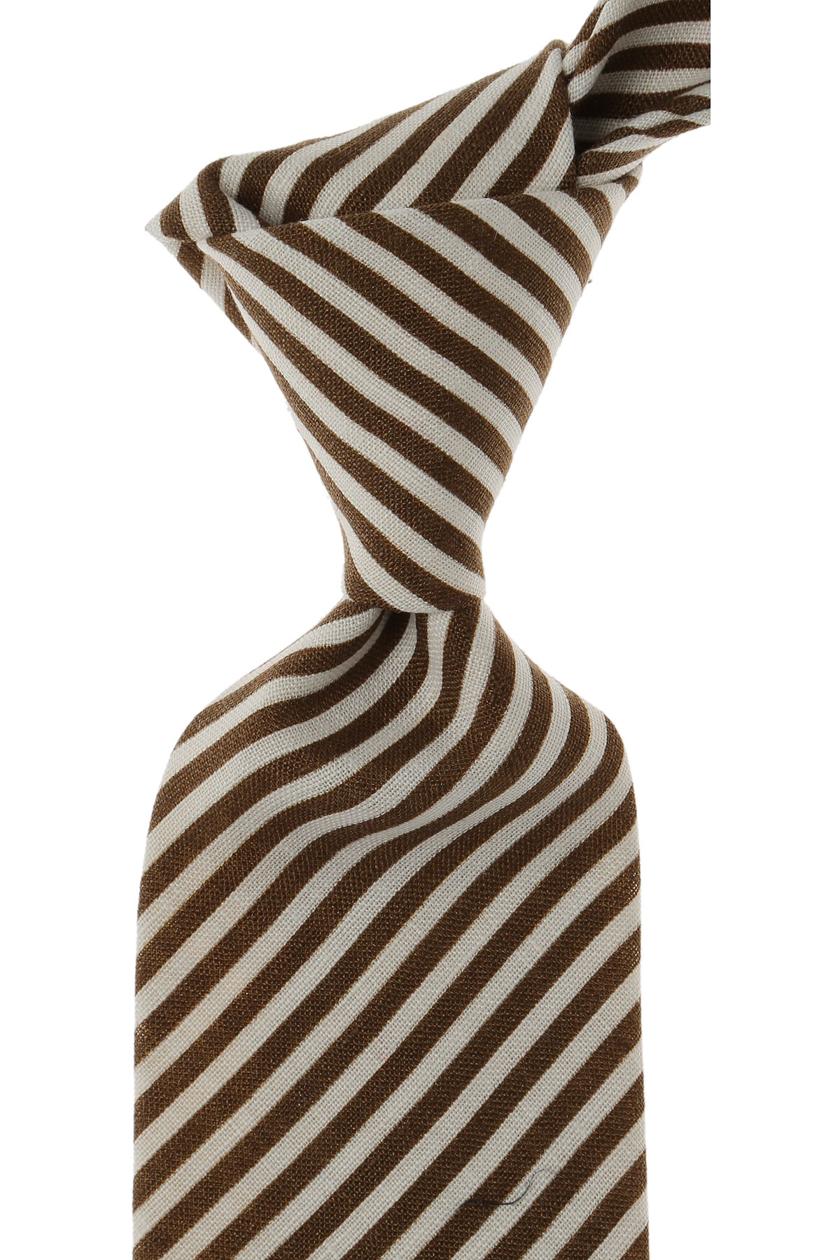 Image of Isaia Ties On Sale, Brown, Cotton, 2017