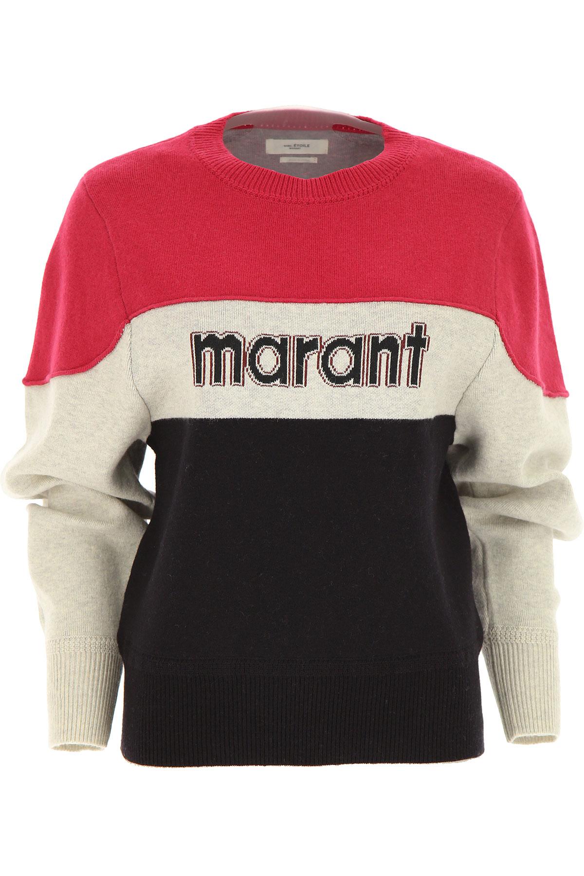 Isabel Marant Sweater for Women Jumper On Sale, Fuchsia, Cotton, 2019, 6 8