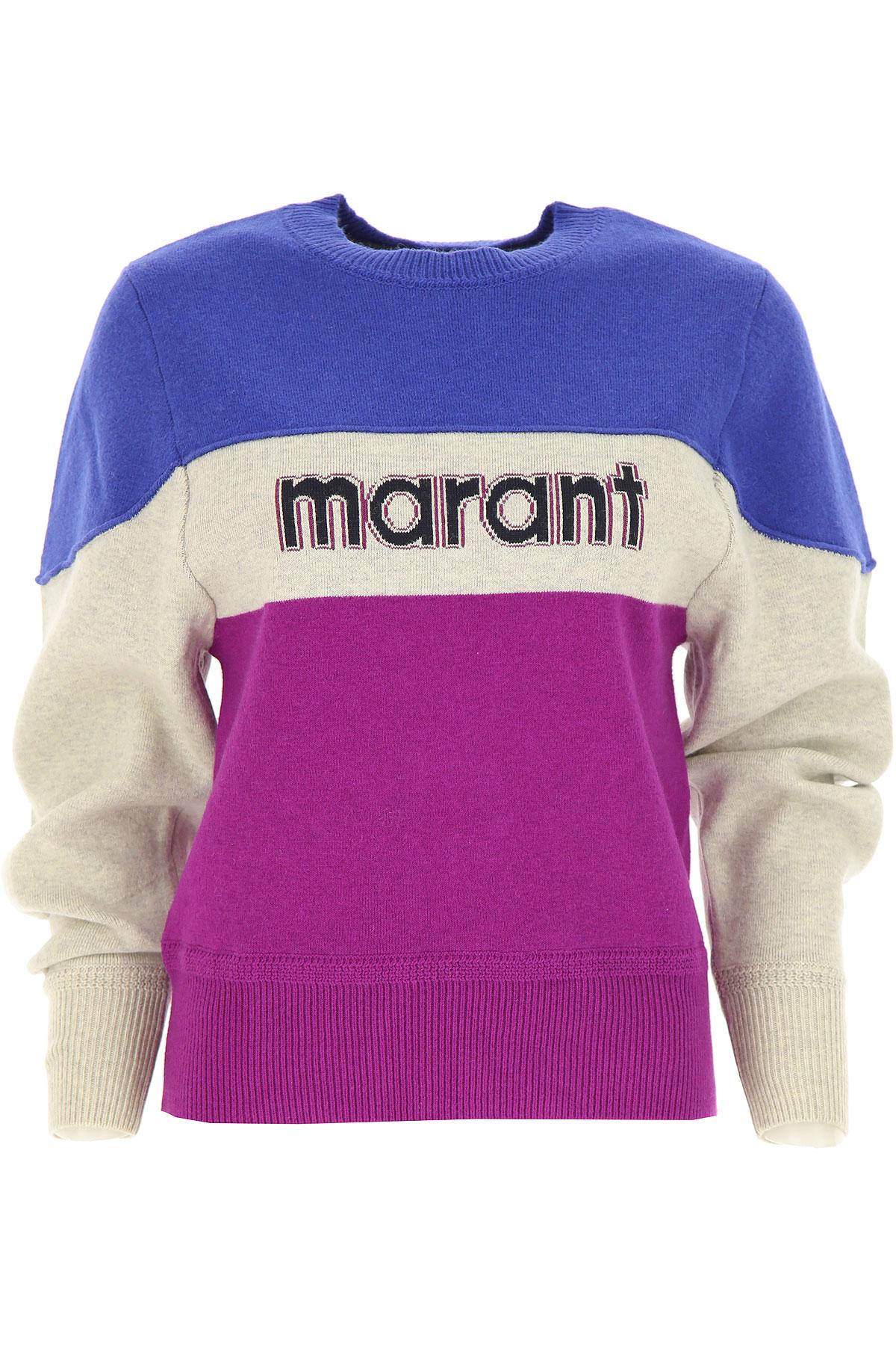 Isabel Marant Sweater for Women Jumper On Sale, Blue, Cotton, 2019, 6 8