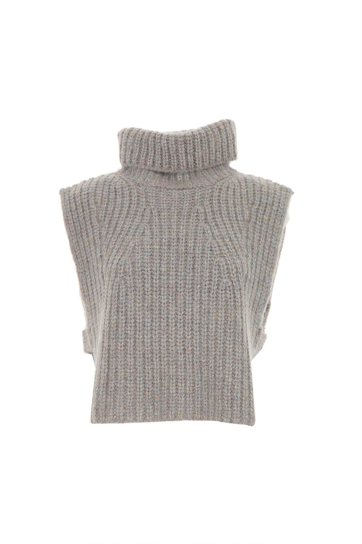 Isabel Marant Sweater for Women Jumper On Sale, Greyish Blue, Wool, 2019, 6