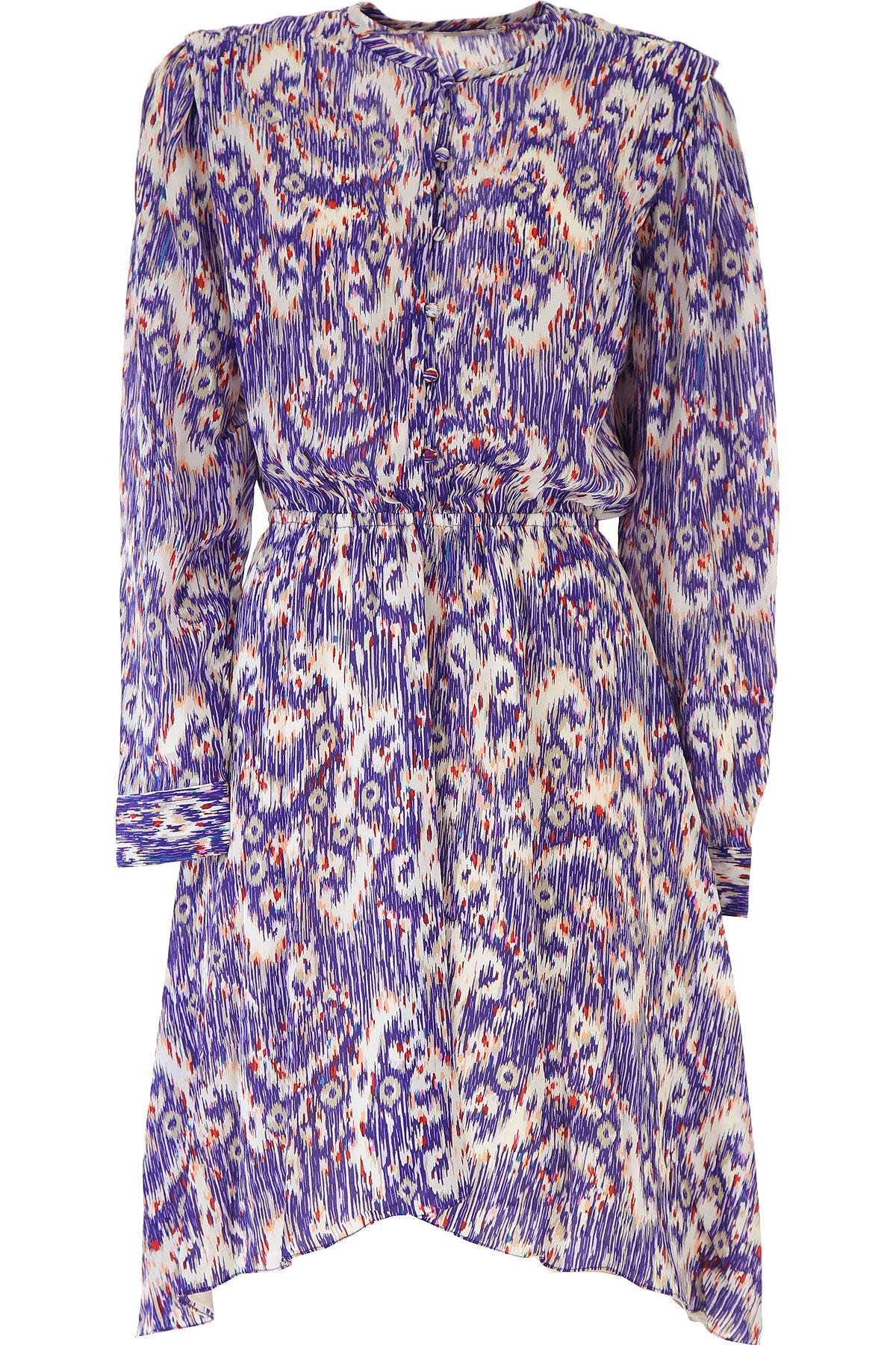 Isabel Marant Dress for Women, Evening Cocktail Party On Sale, Violet Blue, Silk, 2019, 4 6 8