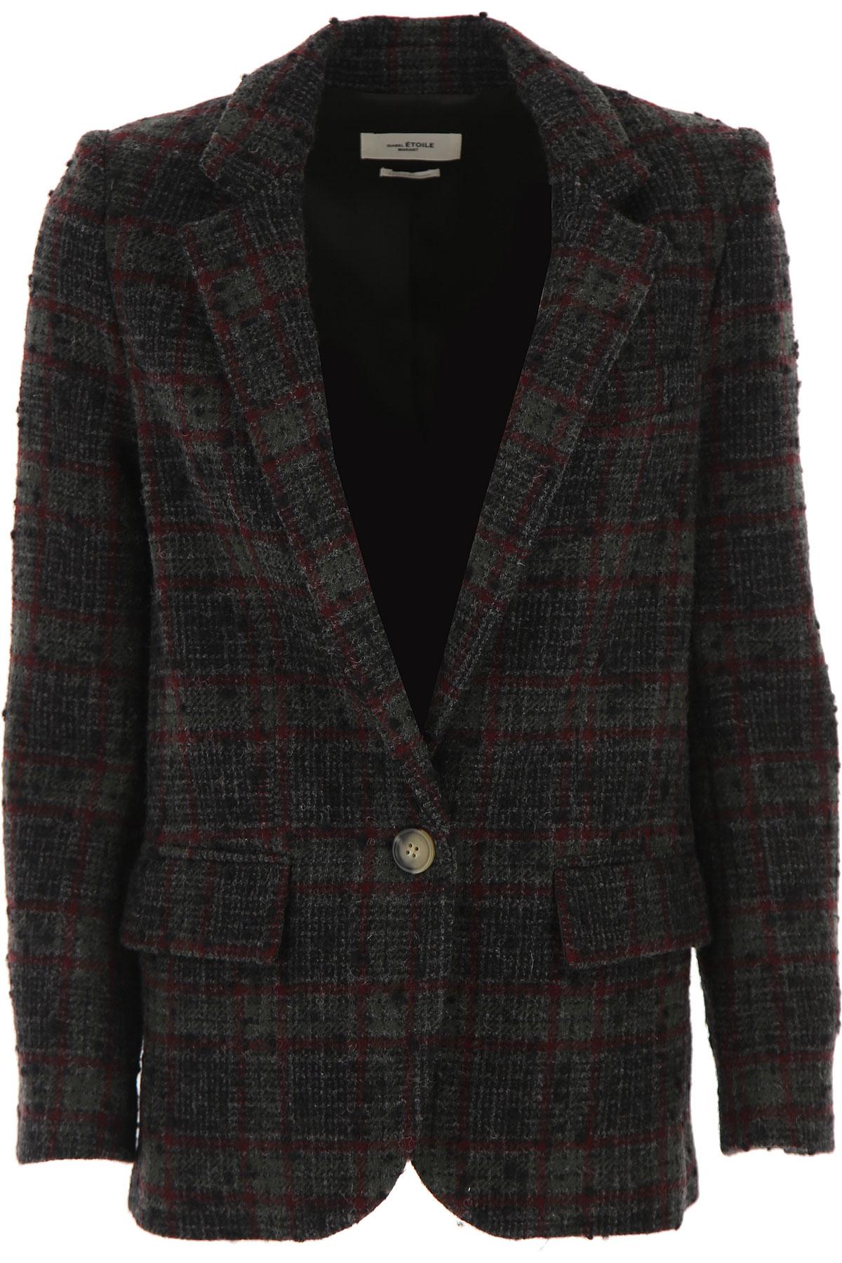 Isabel Marant Blazer for Women On Sale, Dark Grey, Wool, 2019, 4 8