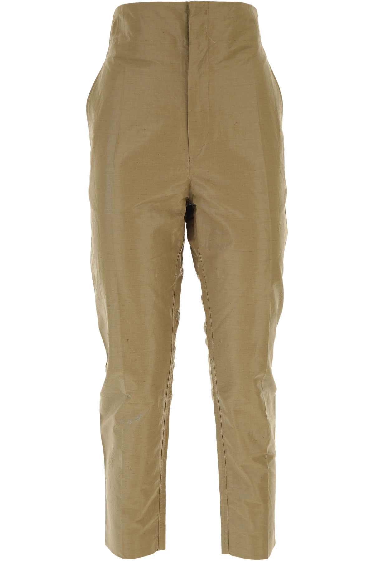 Isabel Marant Pants for Women On Sale in Outlet, Dark Khaki, Cotton, 2019, 4 6