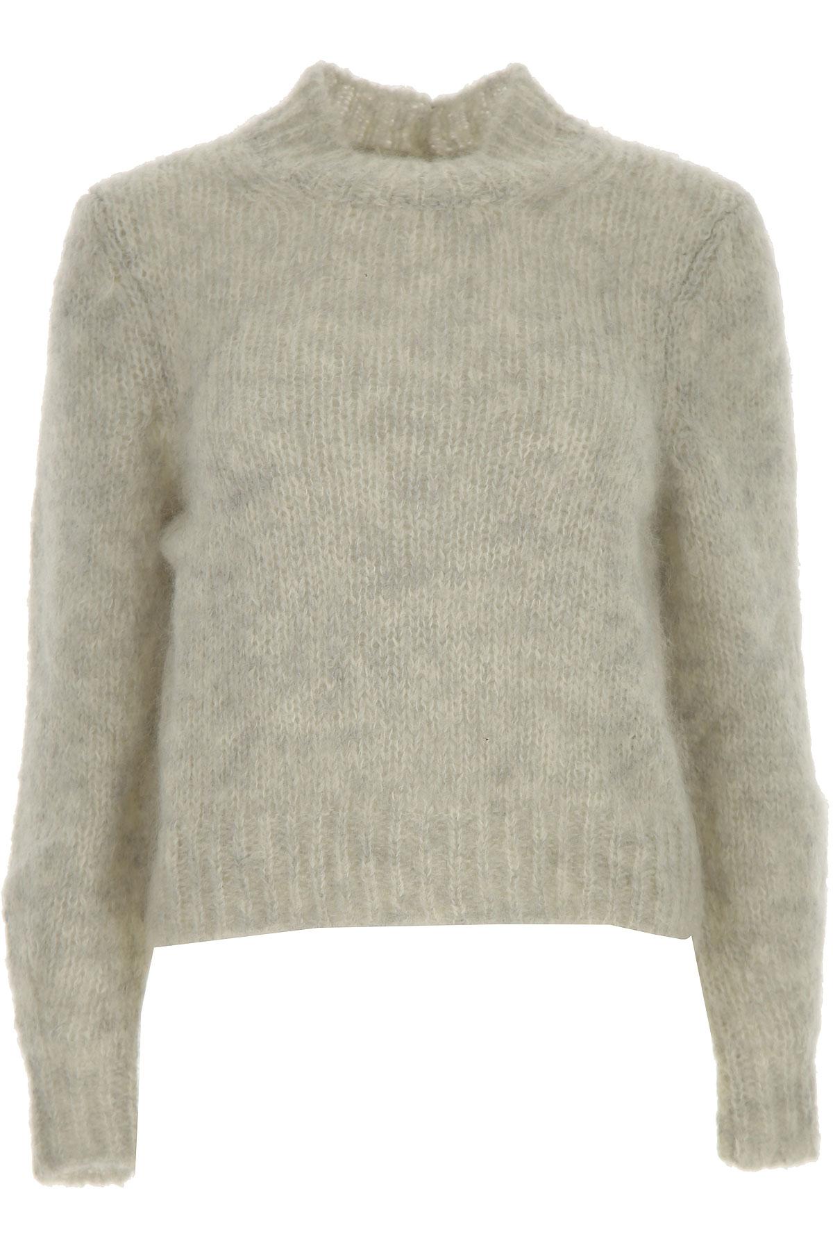 Isabel Marant Sweater for Women Jumper, Light Grey, Super Kid mohair, 2019, 4 6
