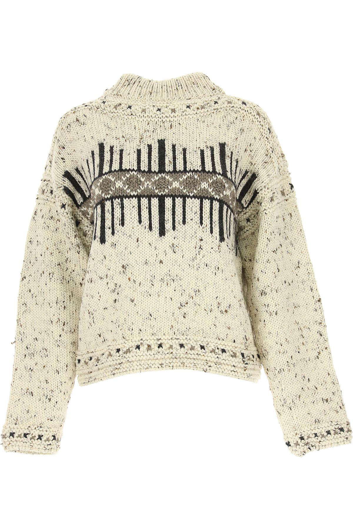 Isabel Marant Sweater for Women Jumper, Ecru, Wool, 2017, FR 34 • IT 38 FR 36 • IT 40 FR 38 • IT 42 USA-478742