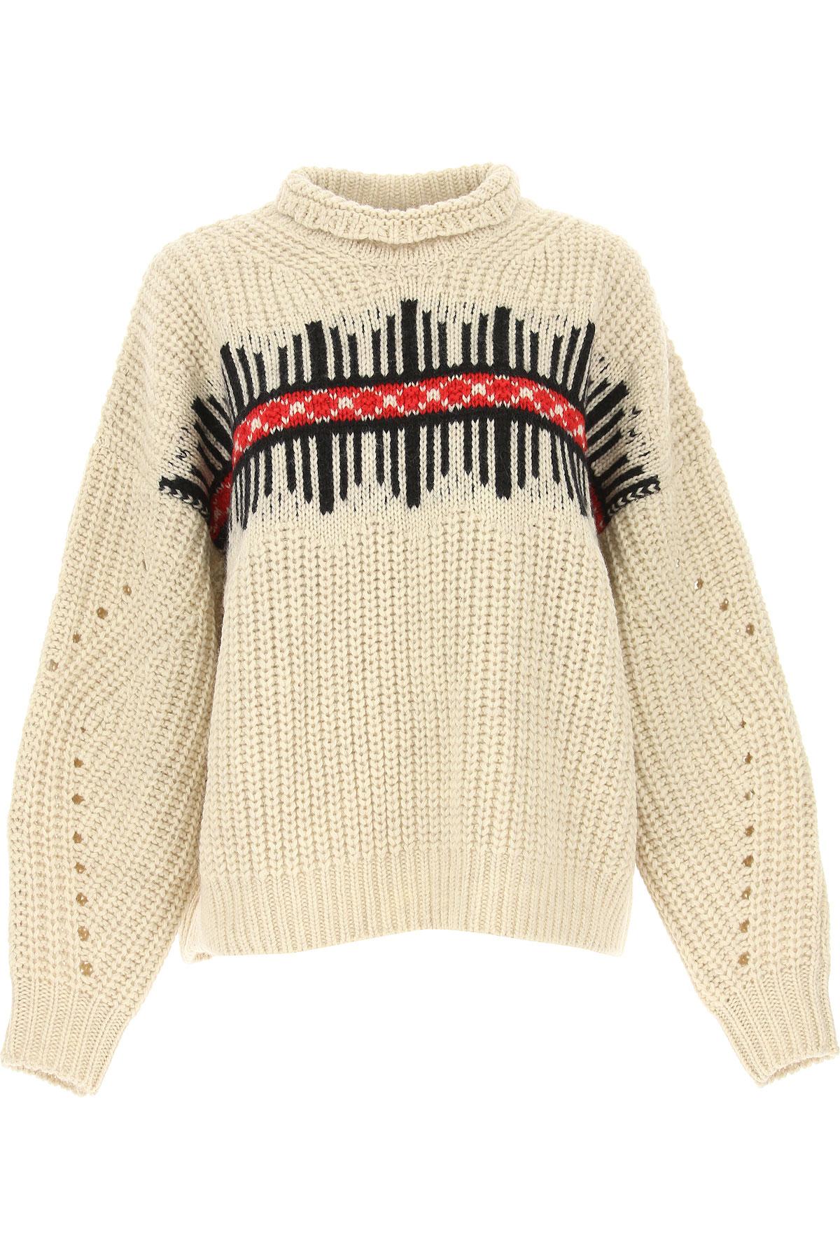 Isabel Marant Sweater for Women Jumper, Ecru, Wool, 2017, FR 34 • IT 38 FR 36 • IT 40 FR 38 • IT 42 USA-478741