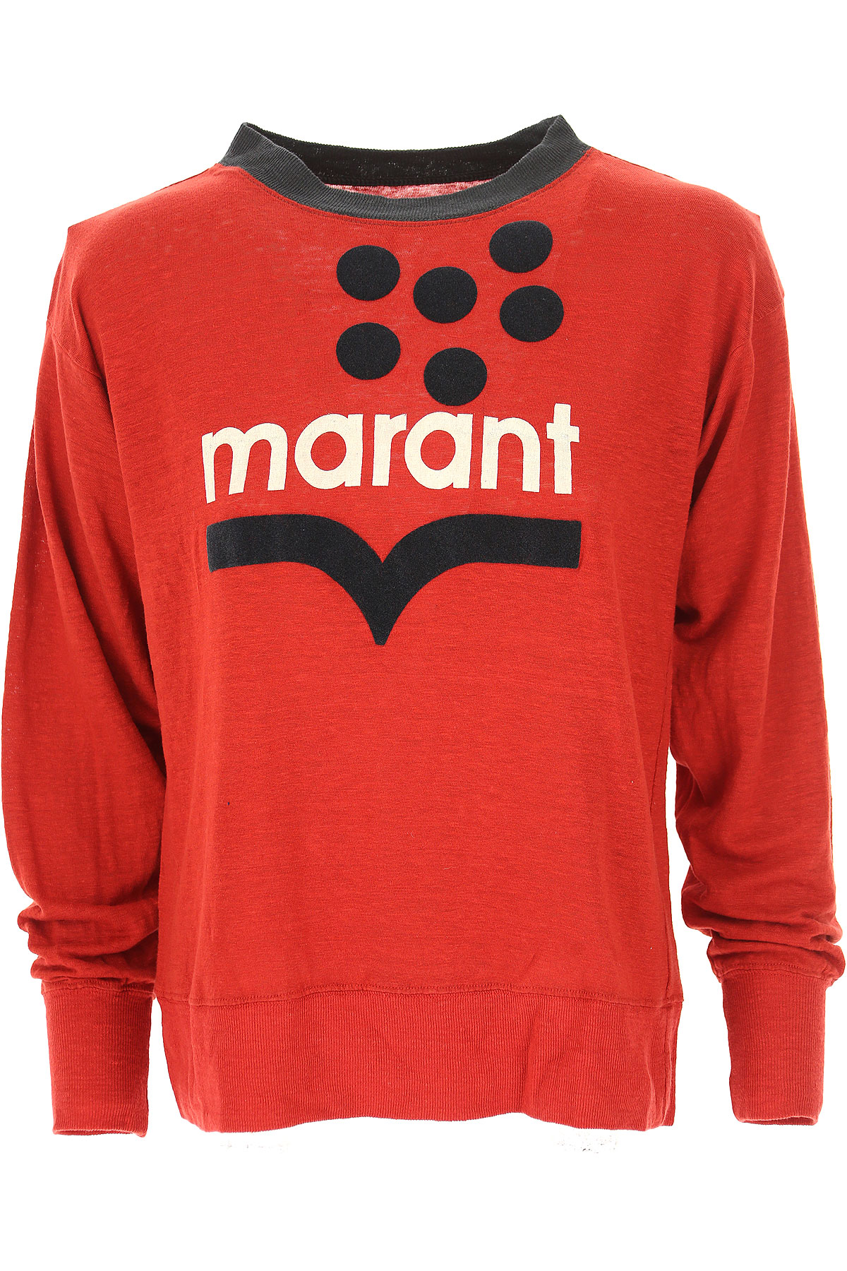 Isabel Marant T-Shirt for Women, Red, linen, 2017, 2 4 6 USA-473309