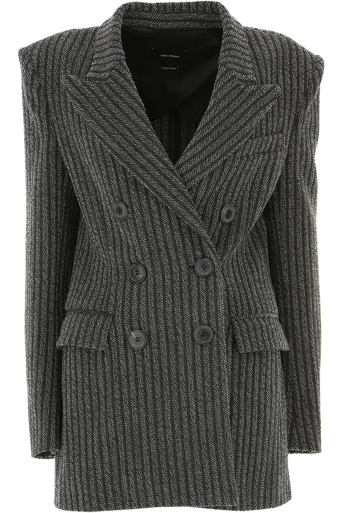 Image of Isabel Marant Blazer for Women, Medium Grey, Virgin wool, 2017, FR 36 • IT 40 FR 38 • IT 42 FR 40 • IT 44