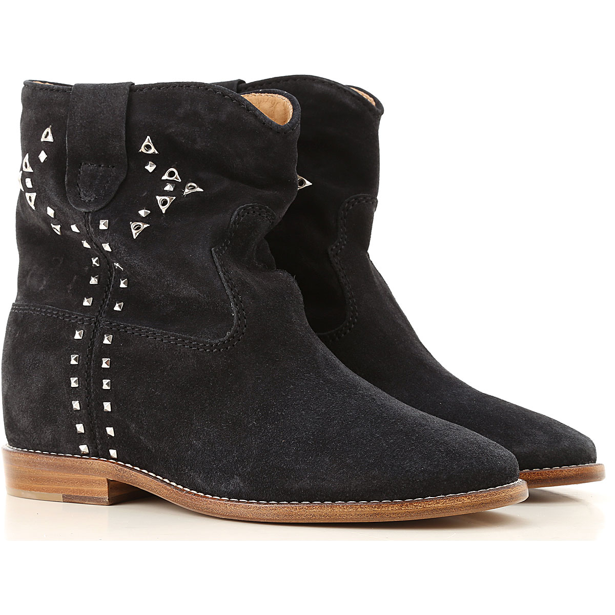 Isabel Marant Boots for Women, Booties On Sale, Faded Black, Suede leather, 2019, 10 6 8