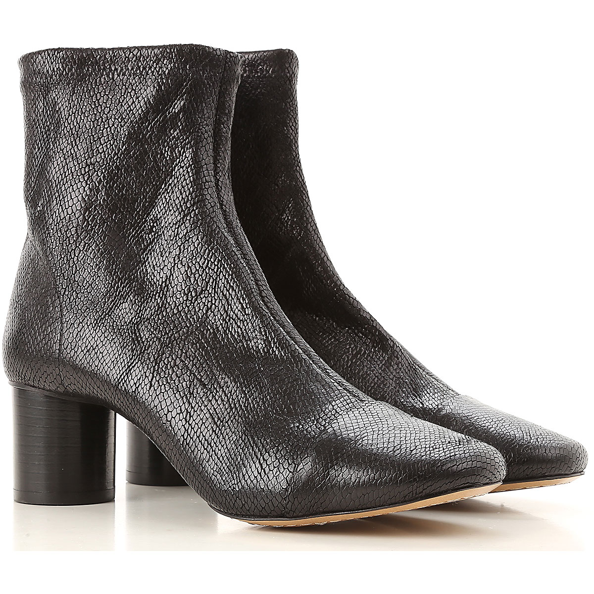 Image of Isabel Marant Boots for Women, Booties, Black, Leather, 2017, 10 5 6 7 8