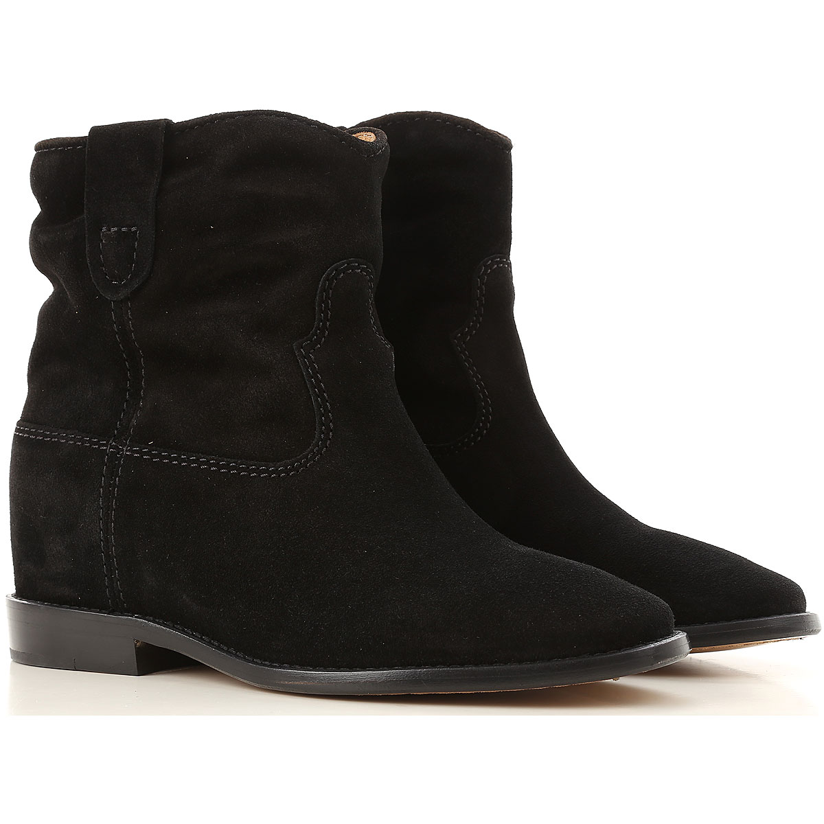 Image of Isabel Marant Boots for Women, Booties, Black, Suede leather, 2017, 11 6 9