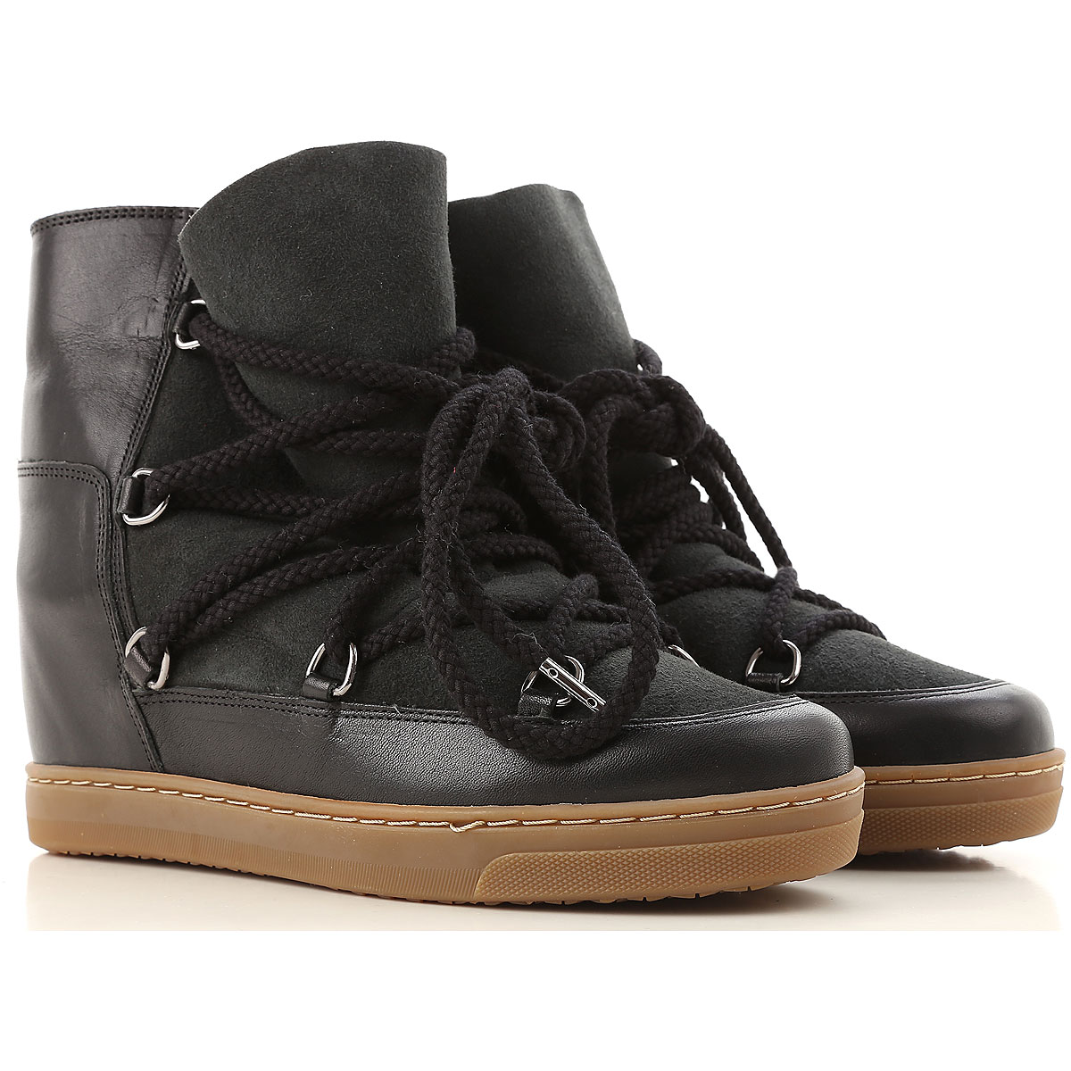 Image of Isabel Marant Boots for Women, Booties, Black, Leather, 2017, 10 11 5 6 7 8 9